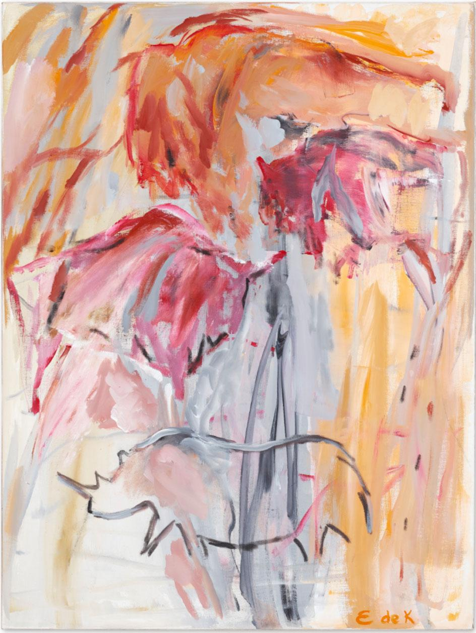 Elaine de Kooning, Red Oxide Grotto (Cave #175), 1988, acrylic on canvas