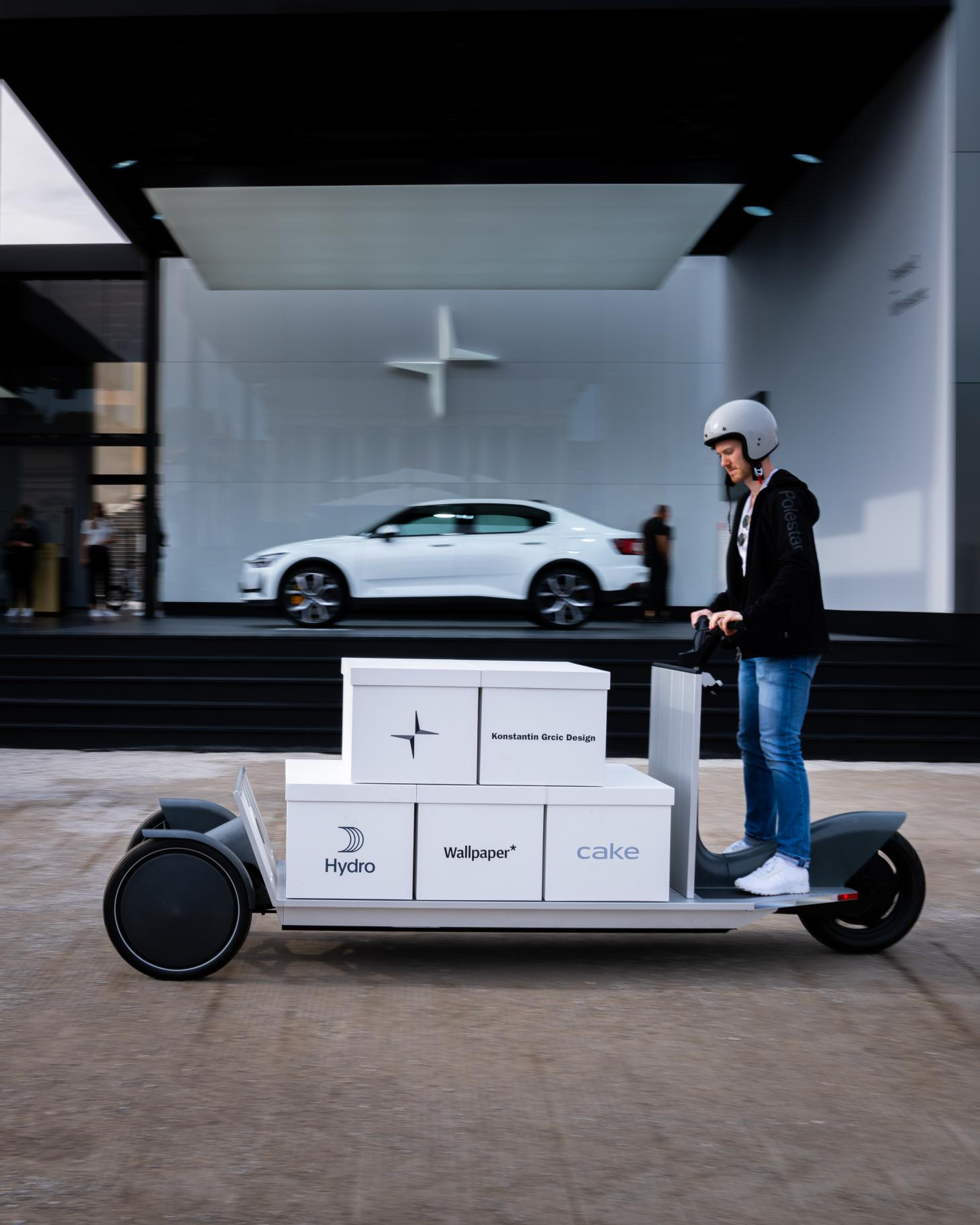 Move electric transporter in action