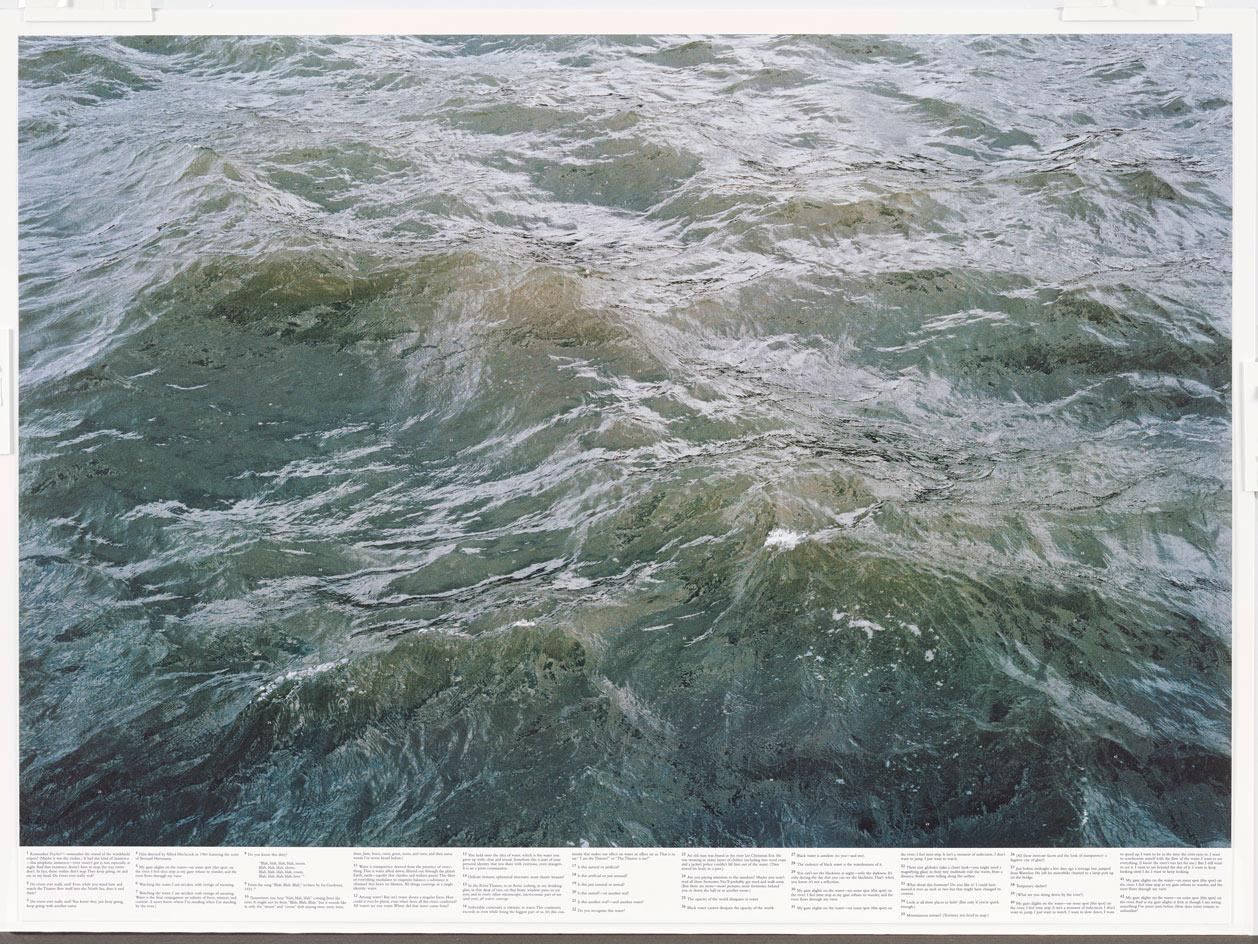 Roni Horn, Still Water (The River Thames, for Example), 1999. Fifteen offset lithographs on uncoated paper (photographs and text).Roni Horn