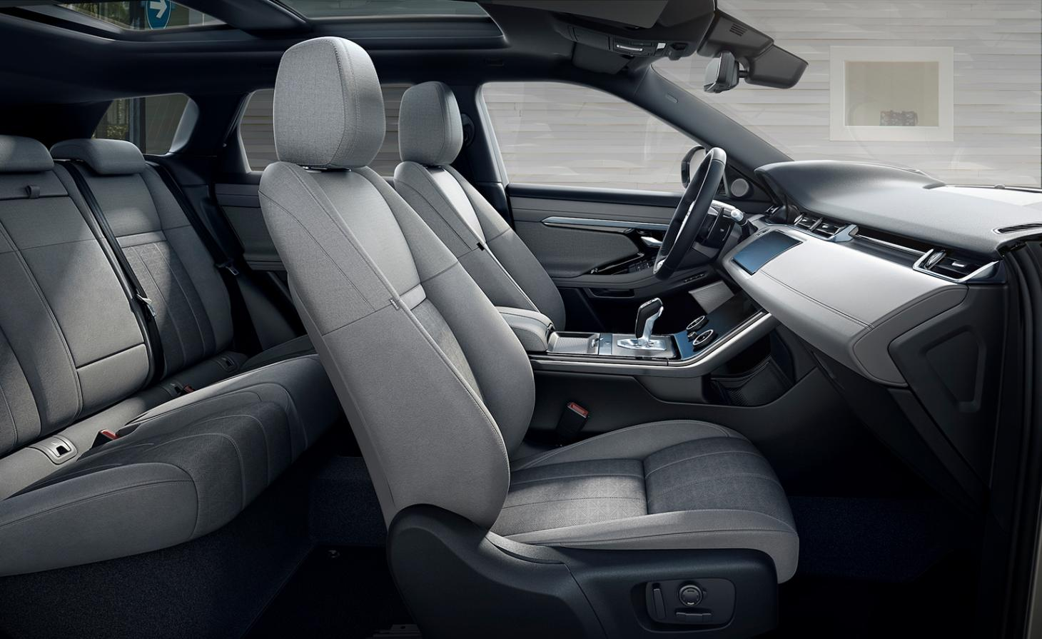 Inside the Range Rover Evoque, with Kvadrat textiles