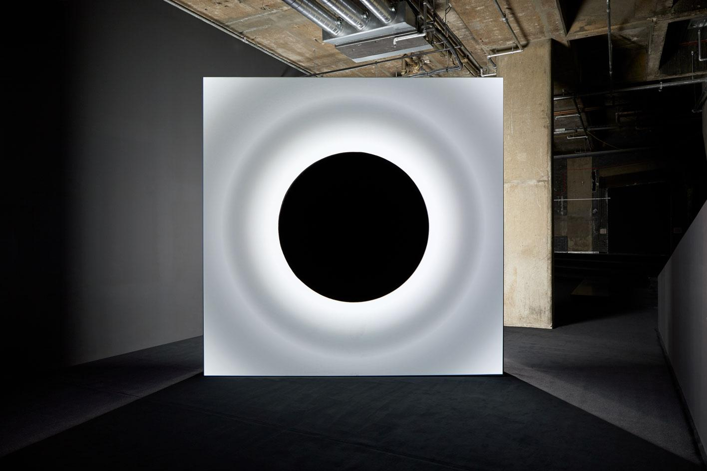Ryoji Ikeda, point of no return audiovisual work in a solo exhibition at 180 The Strand, London 2021