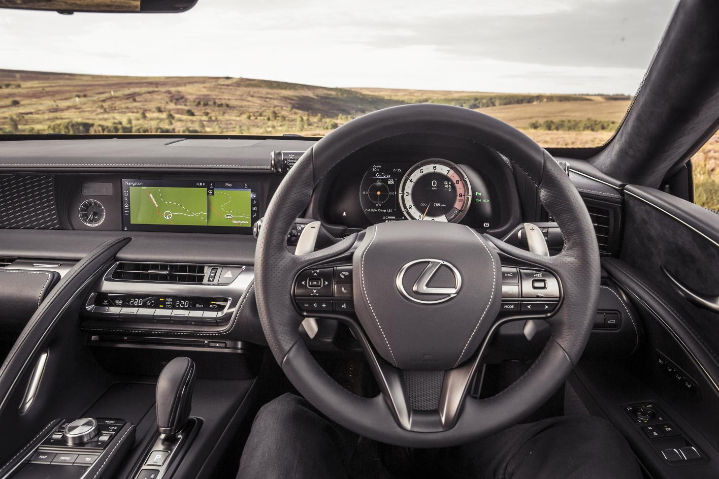 Lexus LC 500 dashboard and cockpit