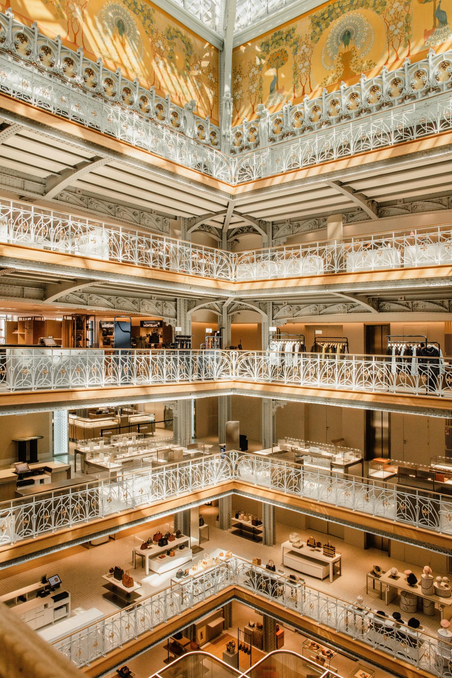 an internal central courtyard shows off La Samaritaine in all its historical, renovated glory