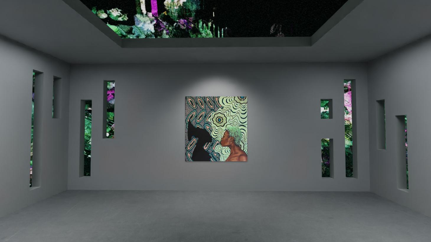 TheVov's virtual presentation of Shannon Bono's Untitled (Mangbetu) and Sian Fan's Seeping Out Skybox, as part of Sarabande's digital exhibition 'Corpus Mentis'