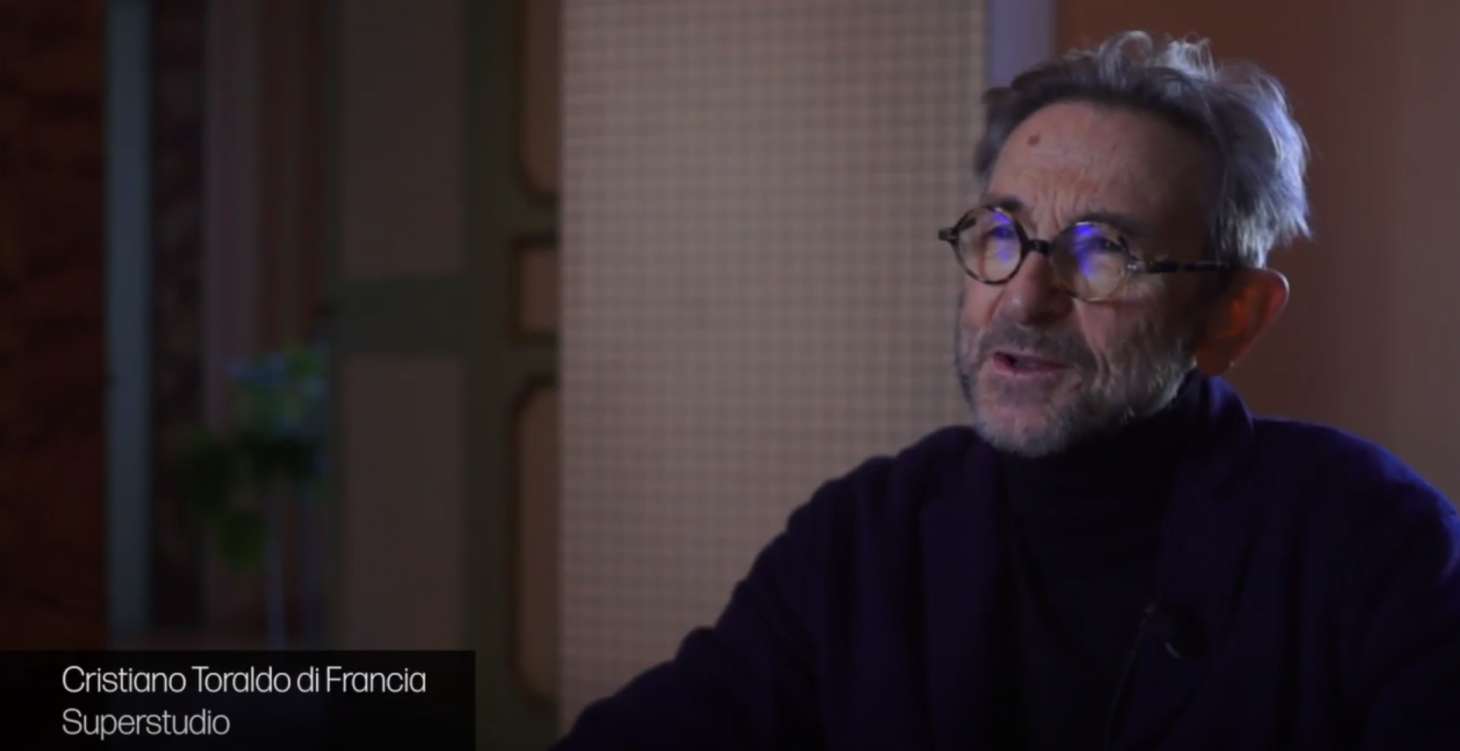 Cristiano Toraldo di Francia speaking in the 2017 documentary Super Design