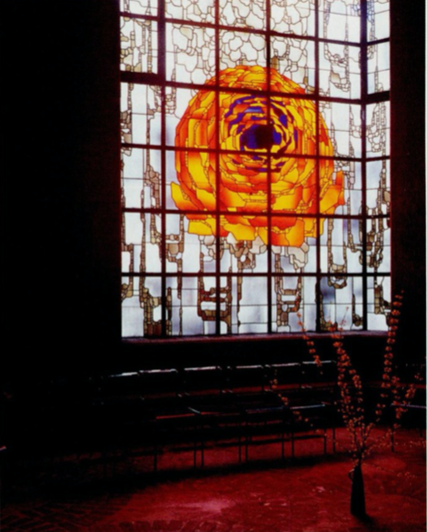 Bohm designed stained glass windows in the Pilgrimage church