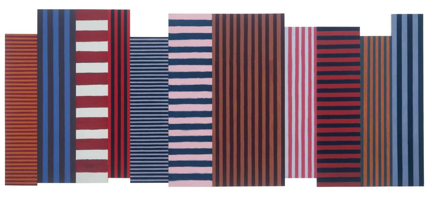 SeanScully,BacksandFronts, painting 1981