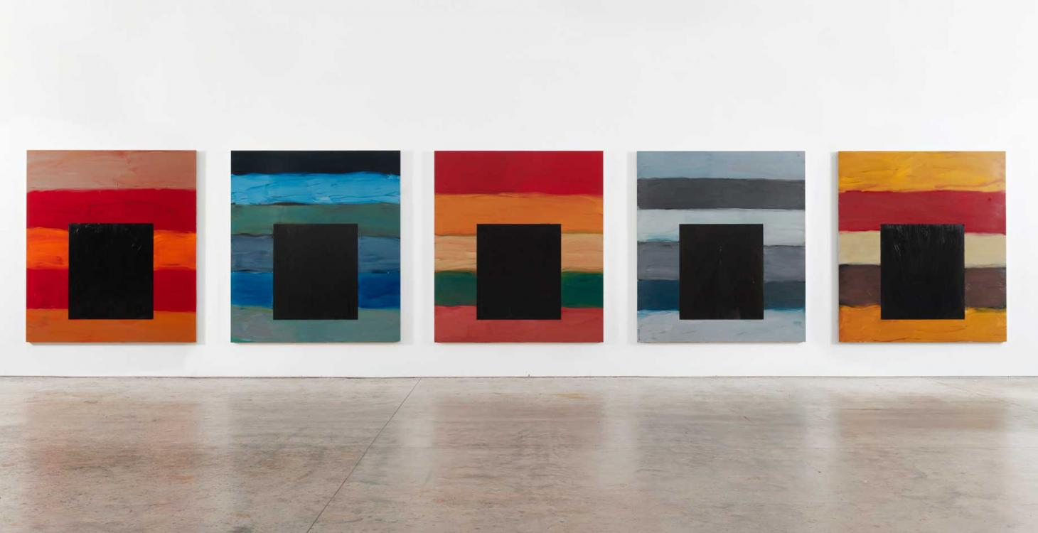 Sean Scully Dark Windows paintings featuring black insets symbolising the impact of the coronavirus 2020