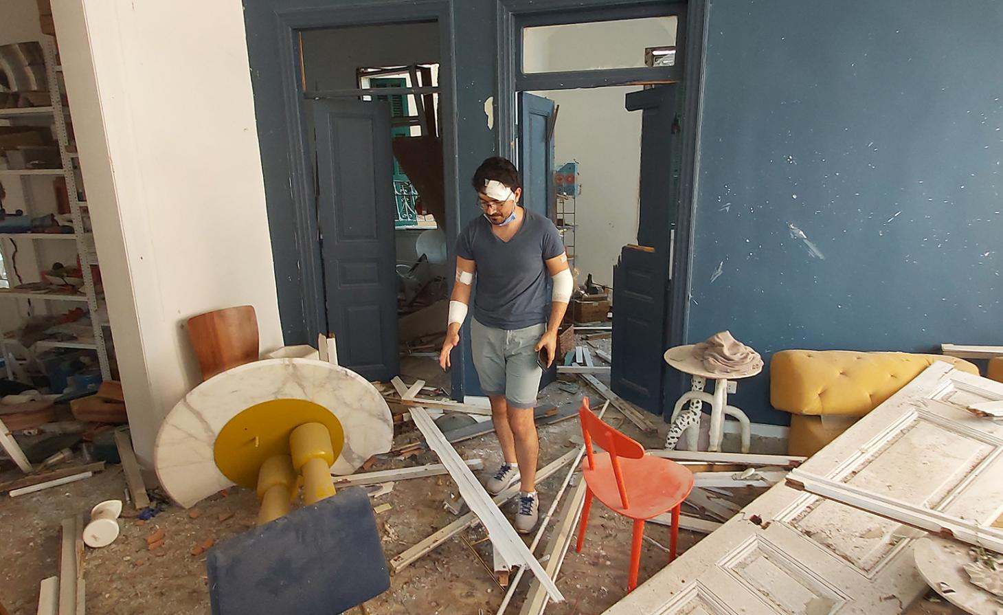 Sayar & Garibeh studio after Beirut blast
