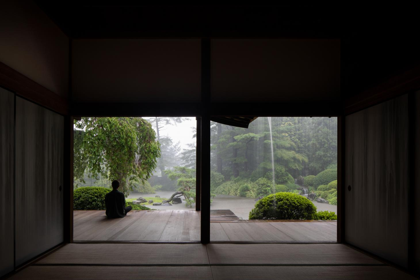 shofuso house looking out