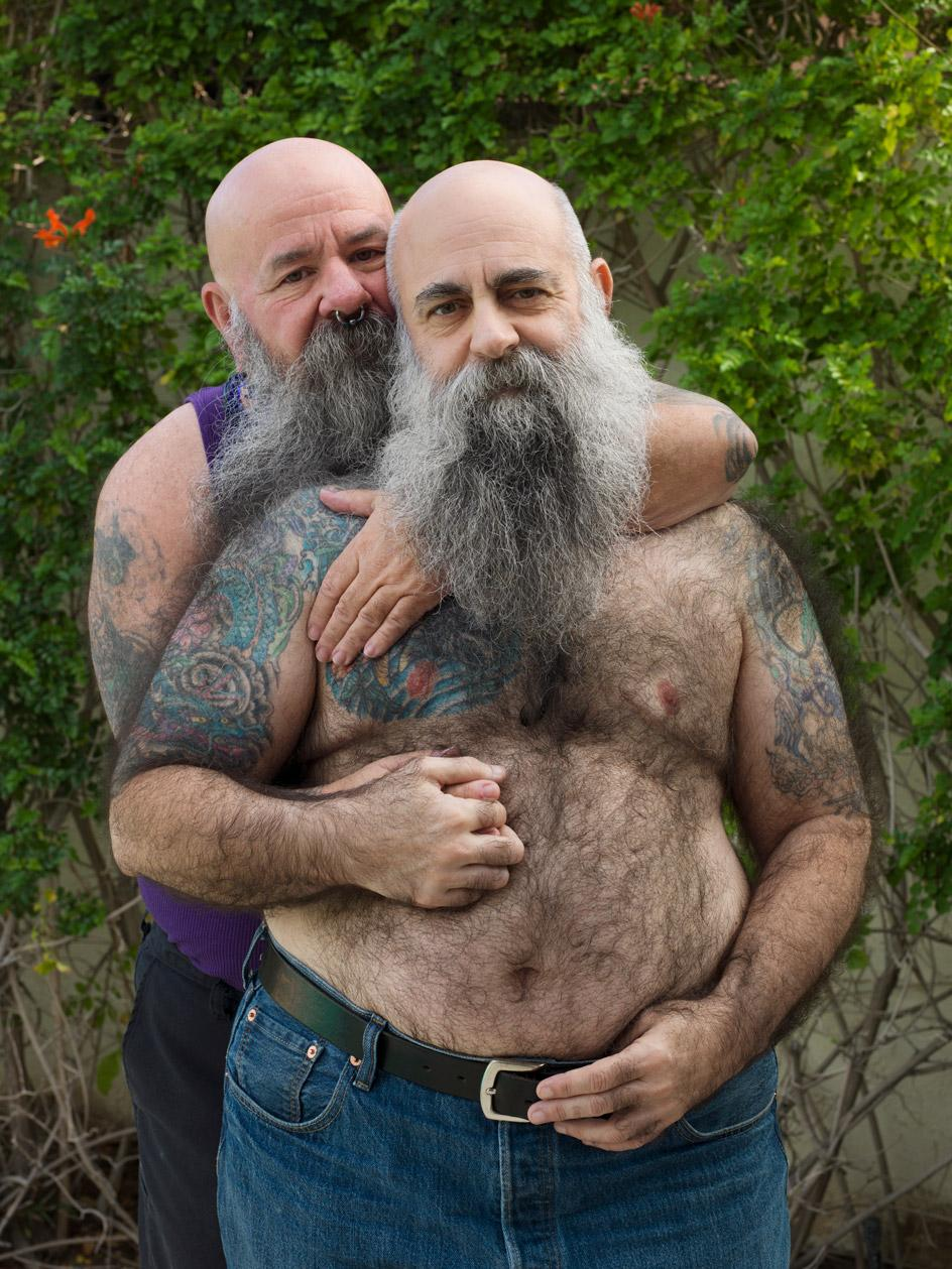 Portrait of Sky, 64, and Mike, 55, in Palm Springs, CA, 2017. Photographed by Jess T. Dugan as part of an exhibition focusing on older transgender people