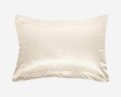 white silk pillowcase by Gingerlily against grey background