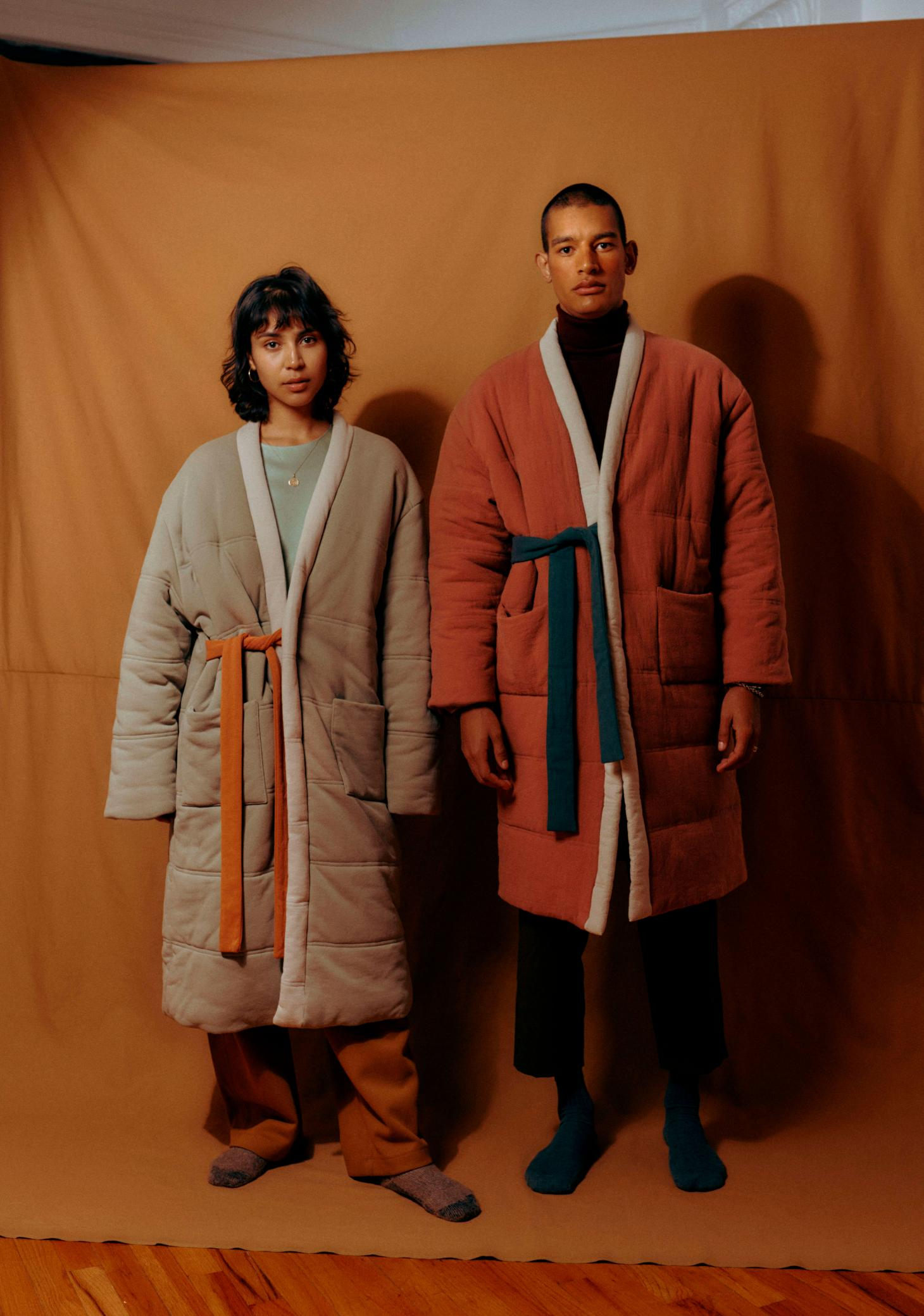 Offhours homecoat robe in Red Rock Arizona inspired colours
