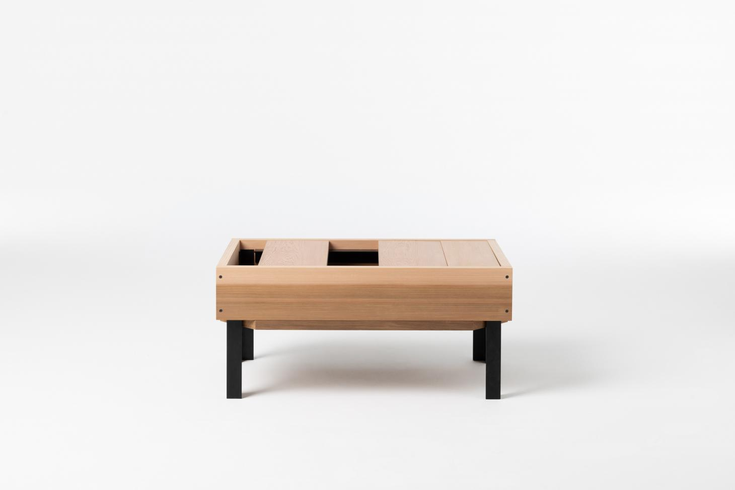 Storage bench made of wood