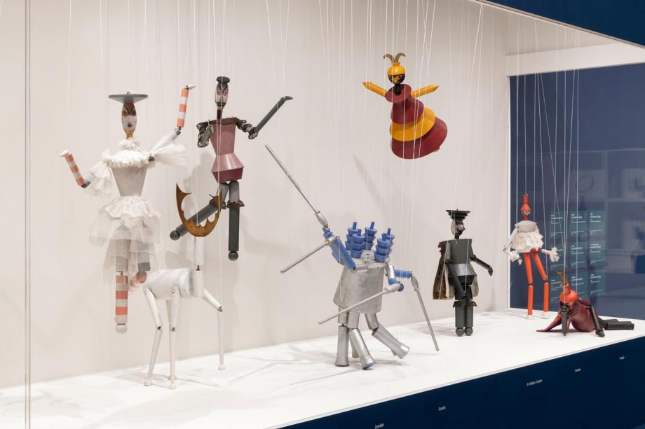 Installation view of 'Sophie Taeuber-Arp' at Tate Modern. Courtesy Tate, Seraphina Neville