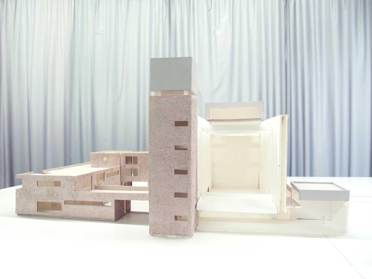 Architectural model of St Agnes Church König Gallery in Berlin