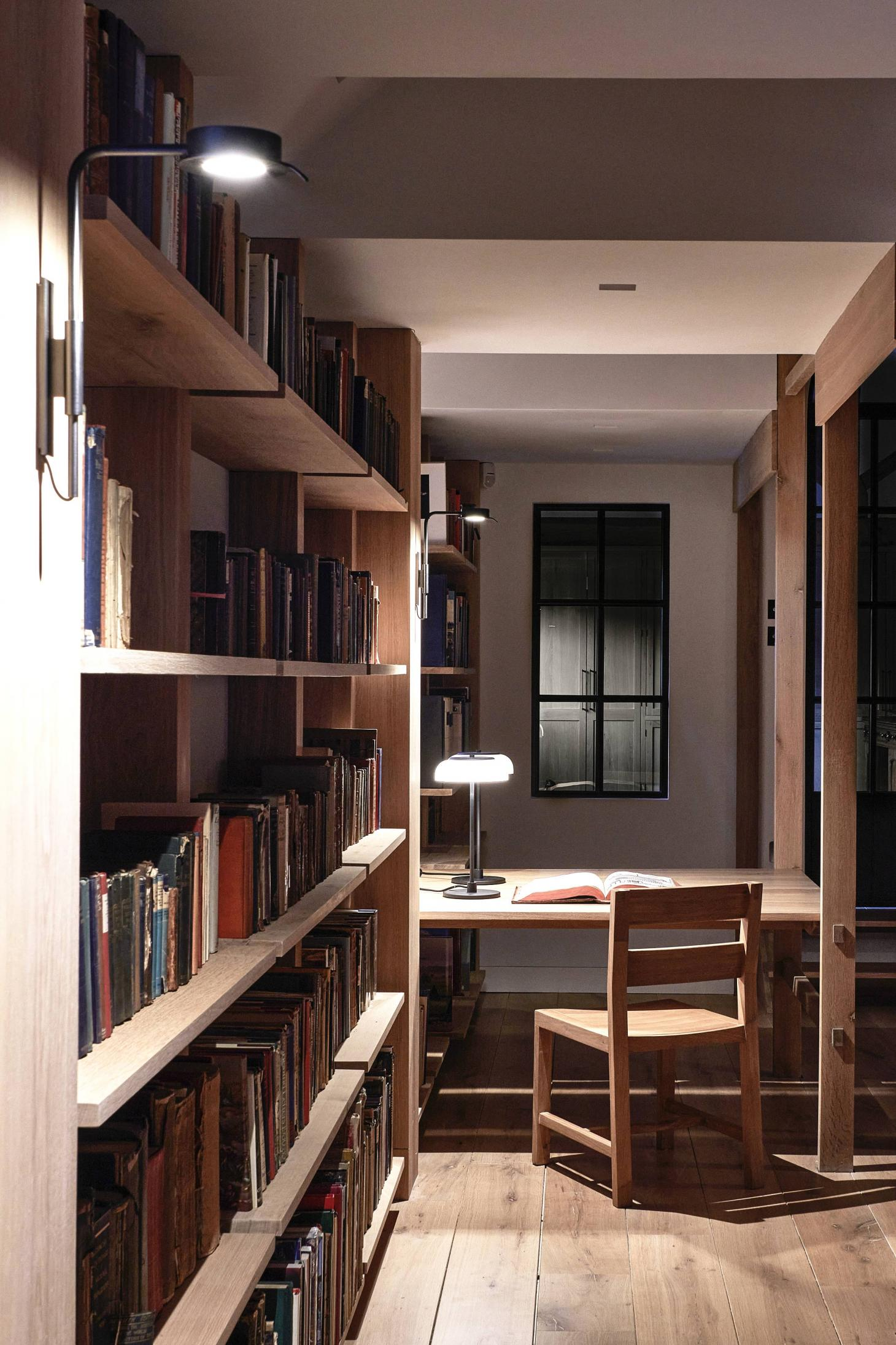 study space in Dorset library in renovated cowshed