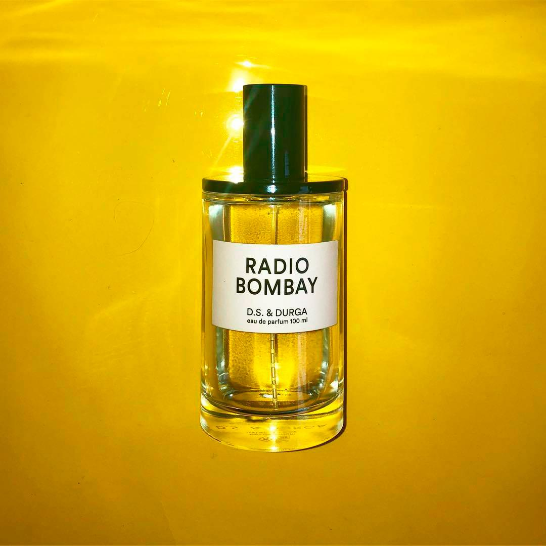 Radio Bombay perfume by D.S. & Durga against yellow background