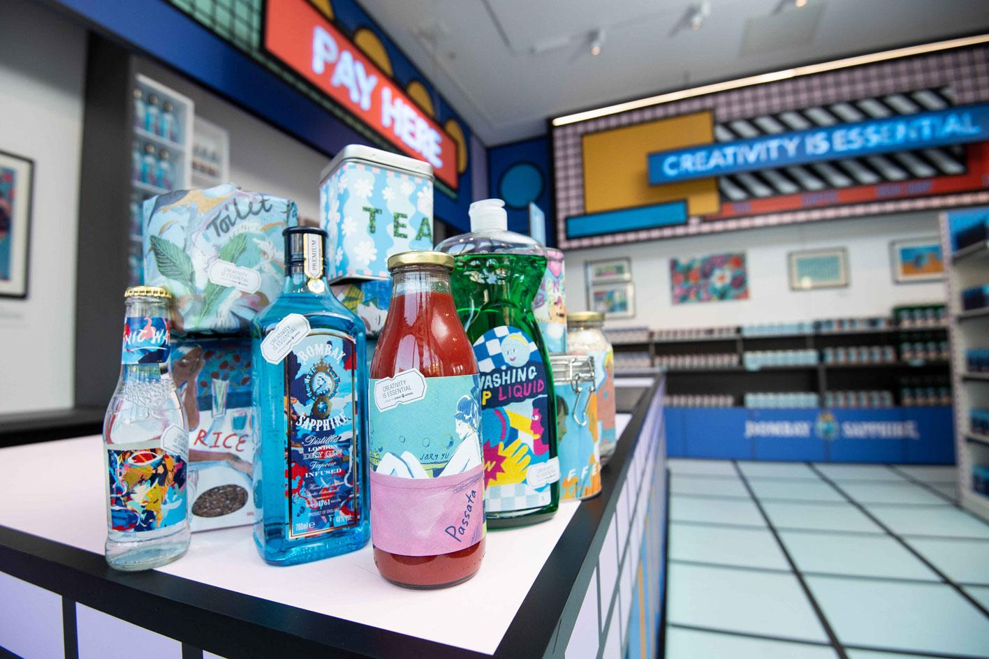 Inside 'Supermarket' at London's Design Musuem, open from 21- 25 April