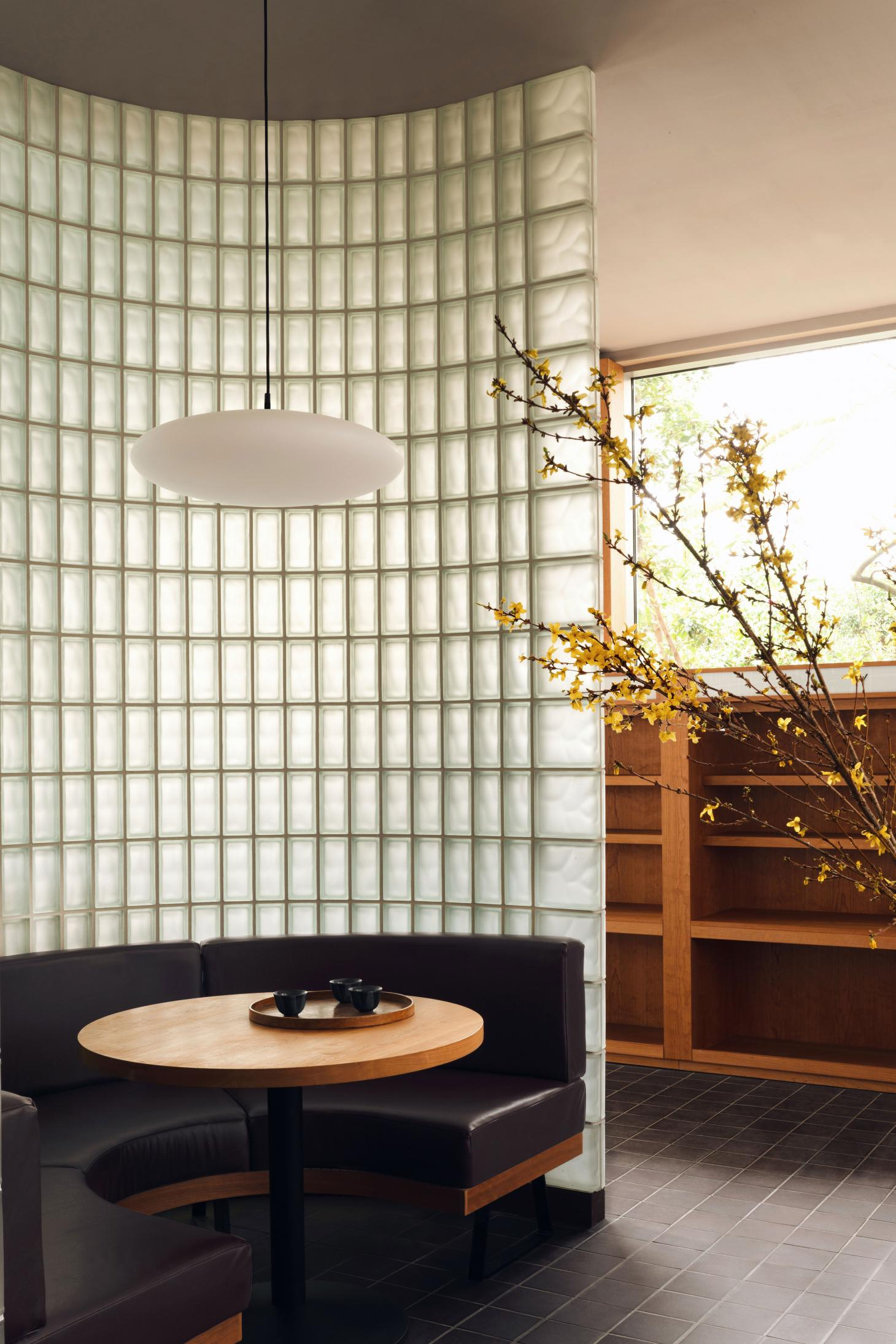 Maido Sushi interiors designed by Child Studio in 1960s London post office
