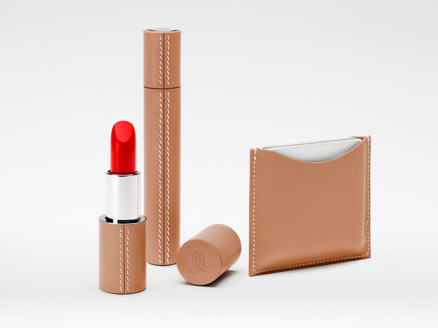 la bouche rouge makeup collection in beige leather cases