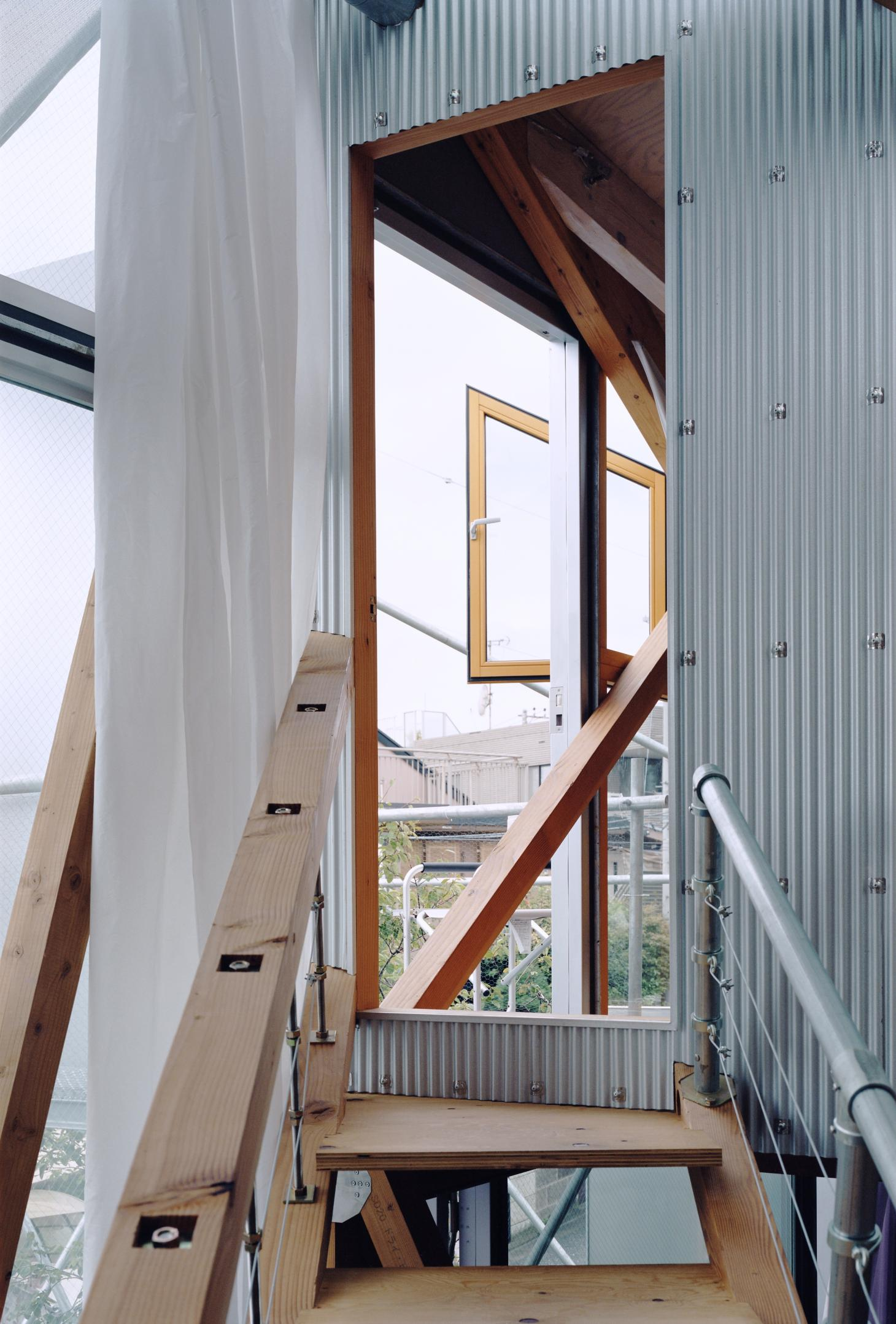 detail of the detail structure at Daita2019, a Japanese house