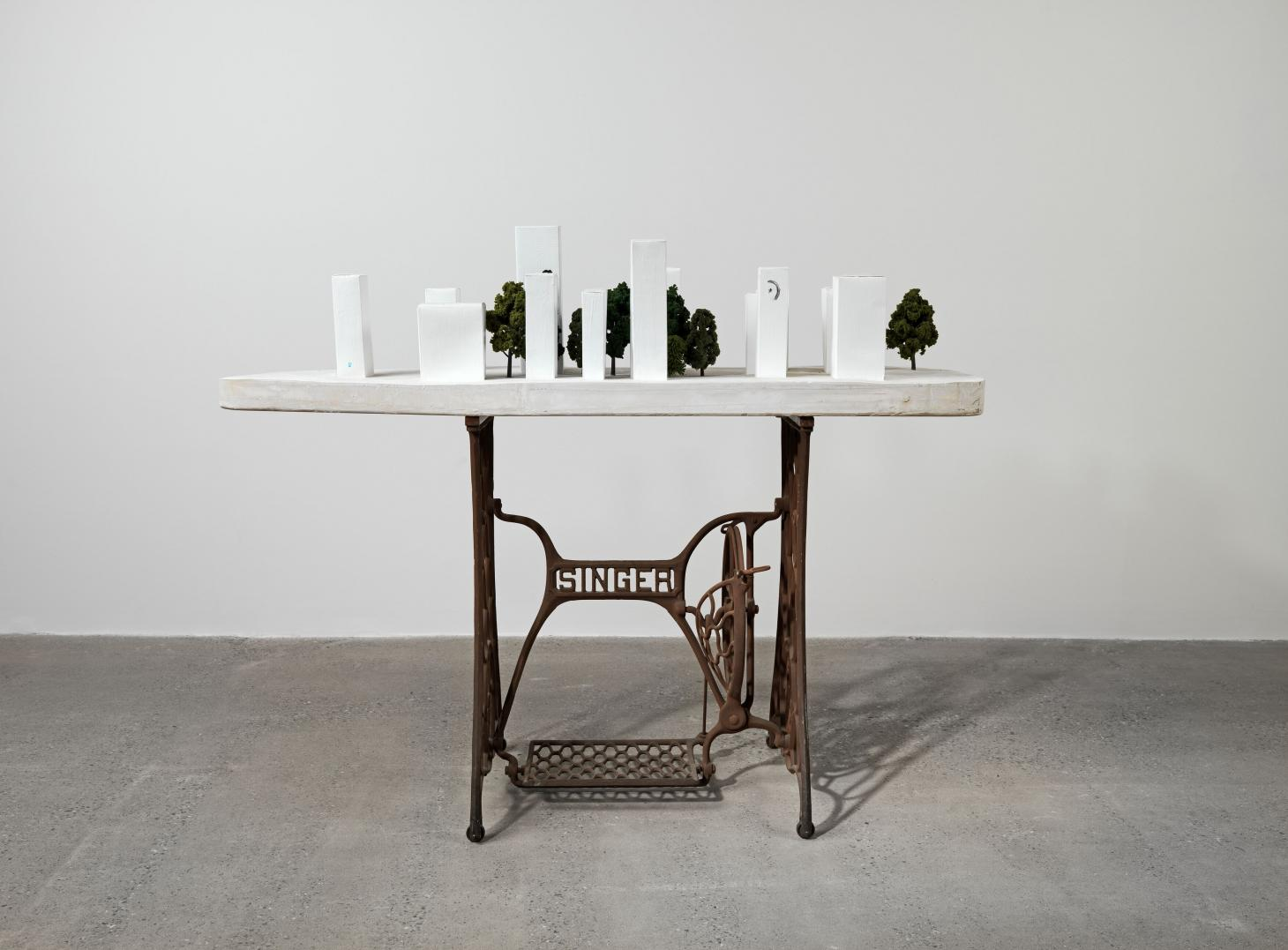 Image of a sculpture by Henry Taylor, Untitled, 2020. On display as part of the artist's exhibition at Hauser & Wirth Somerset