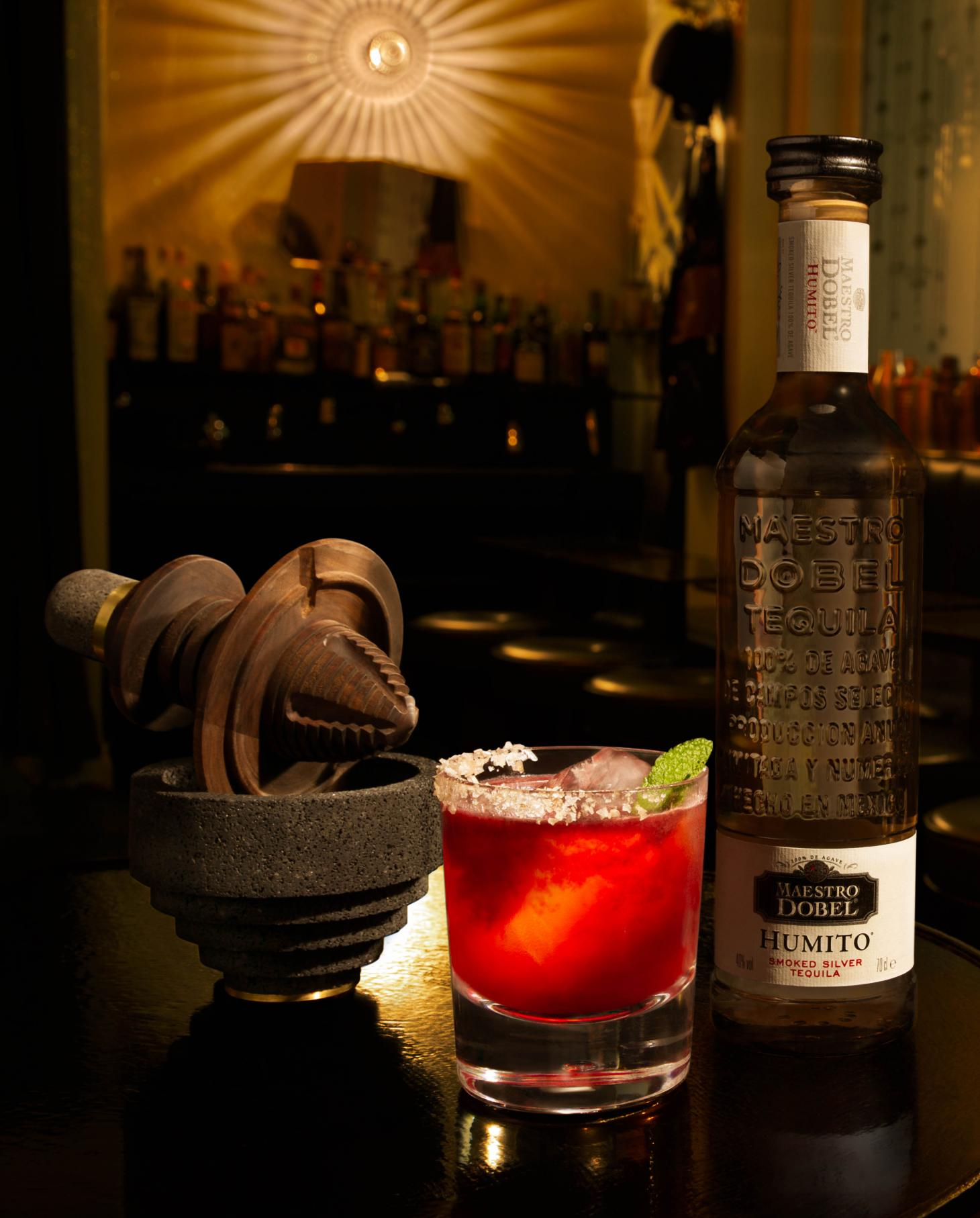 maestro dobel berry and peppercorn tequila cocktail
