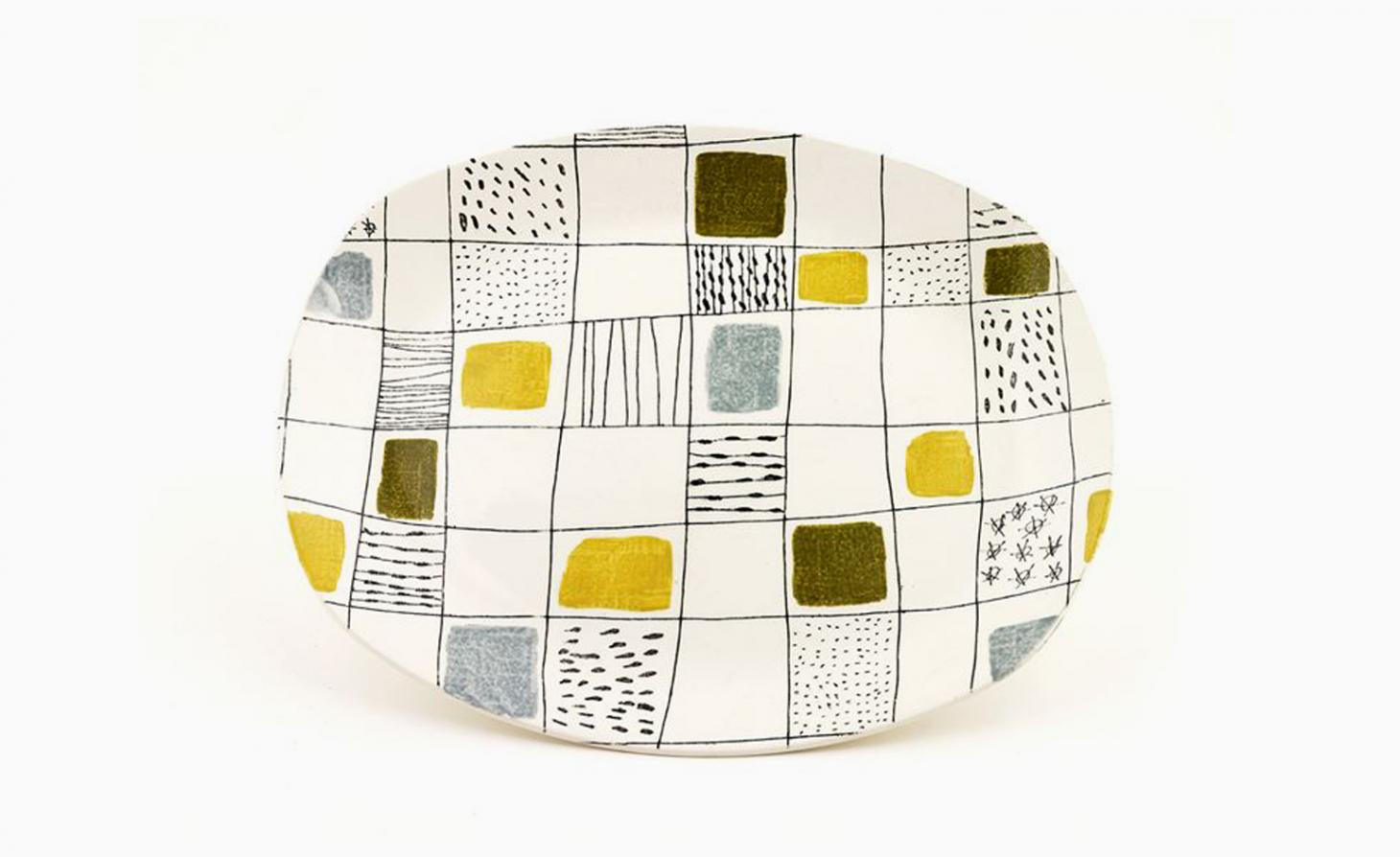 platter decorated with shapes