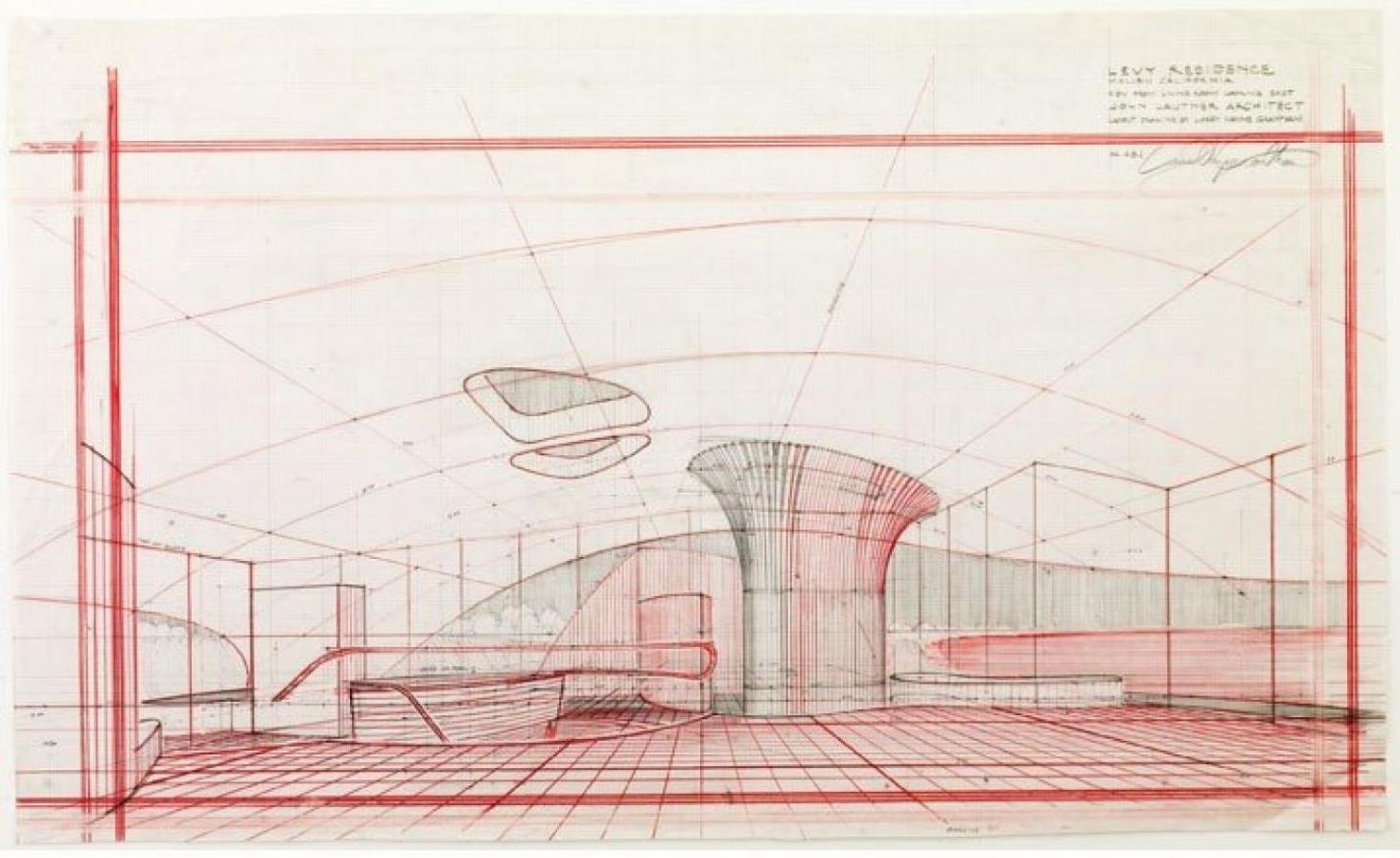 John Lautner drawing