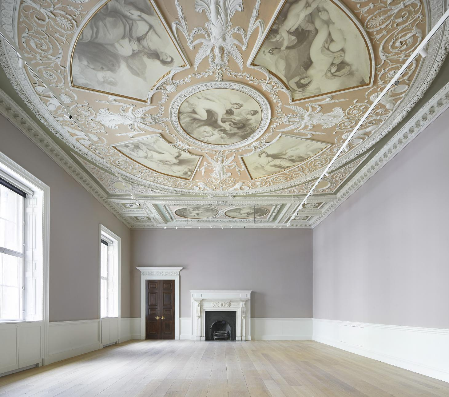 the renovated courtauld gallery in London and its rich interiors