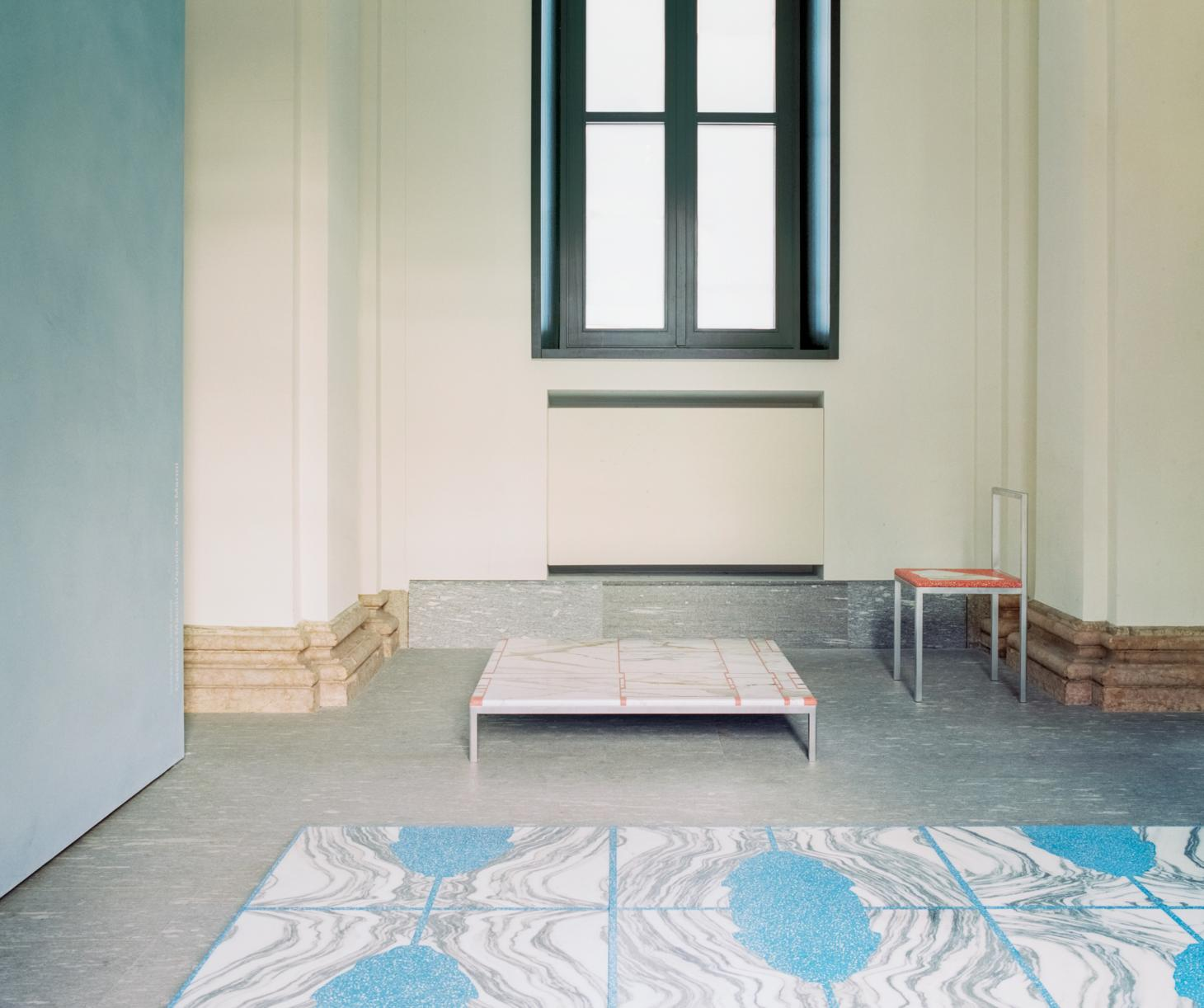 Installation view of Stefan Scholten's The Stone House at Palazzo Turati, Milan