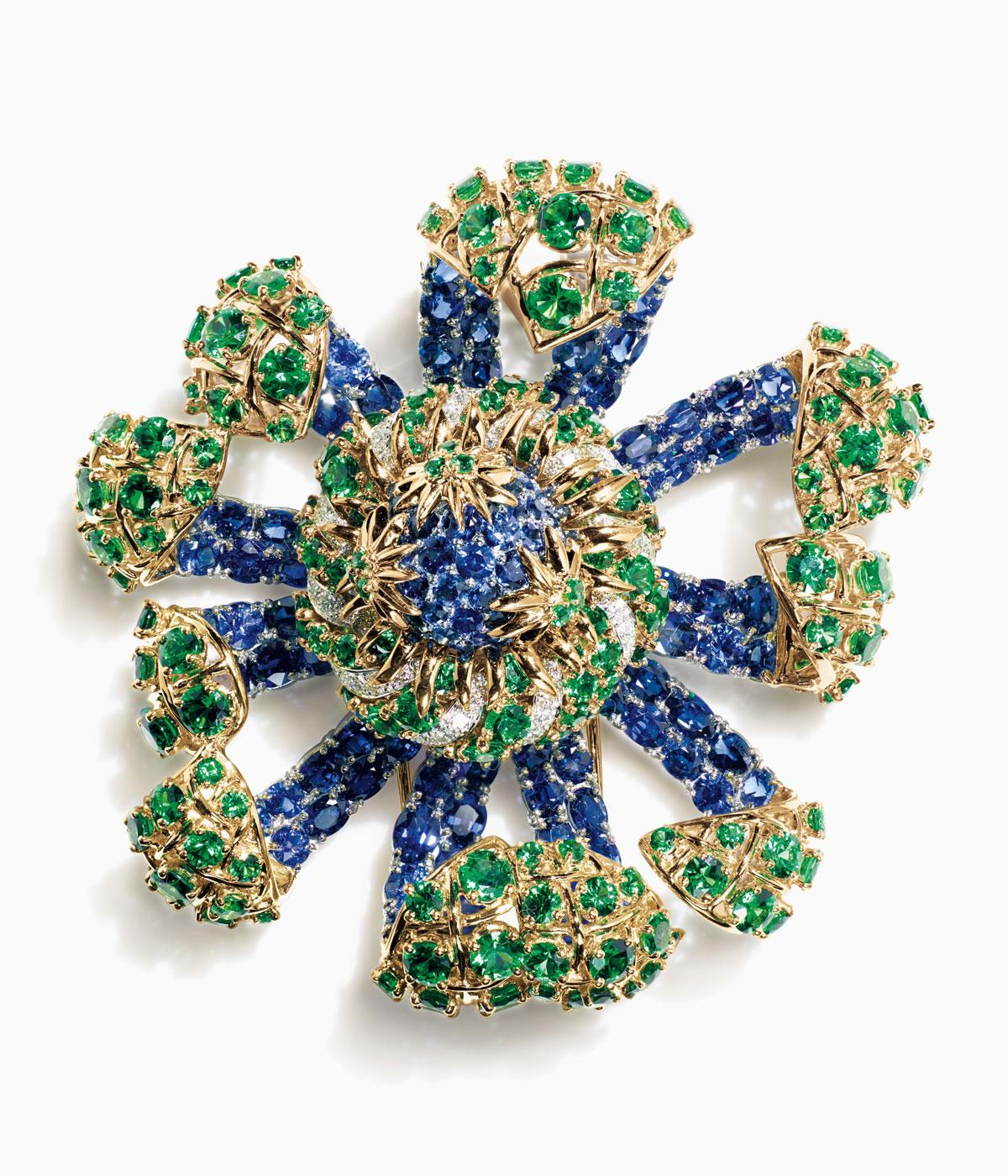 Tiffany & Co brightly coloured brooch, rethought for the modern age