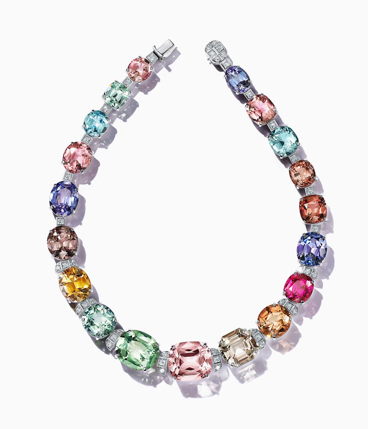 Tiffany & Co brightly coloured necklace