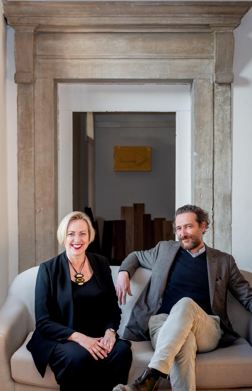 Traudy Pelzel And Francesco Magnani of Map Studio in their studio in Venice