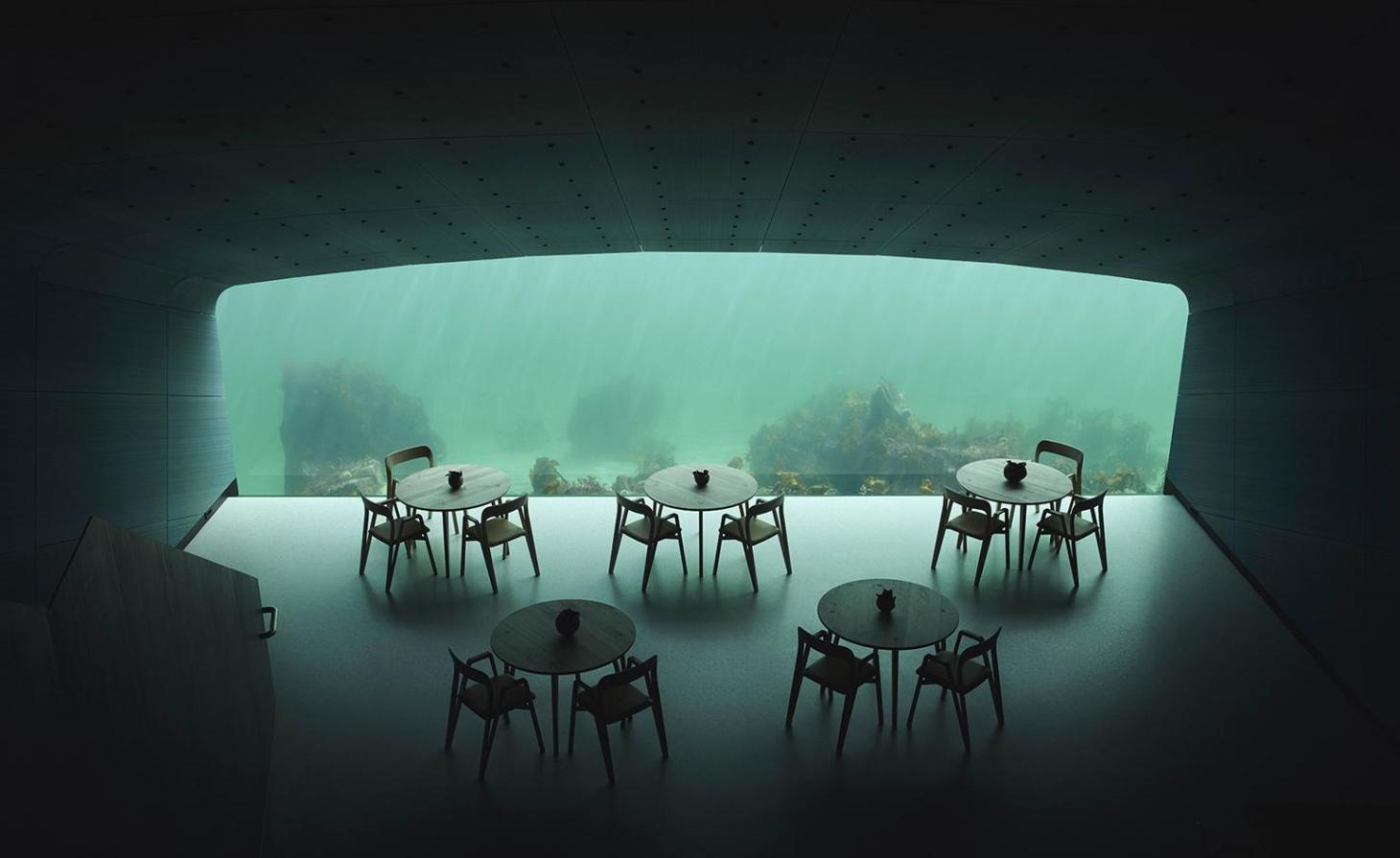Under restaurant by Snohetta