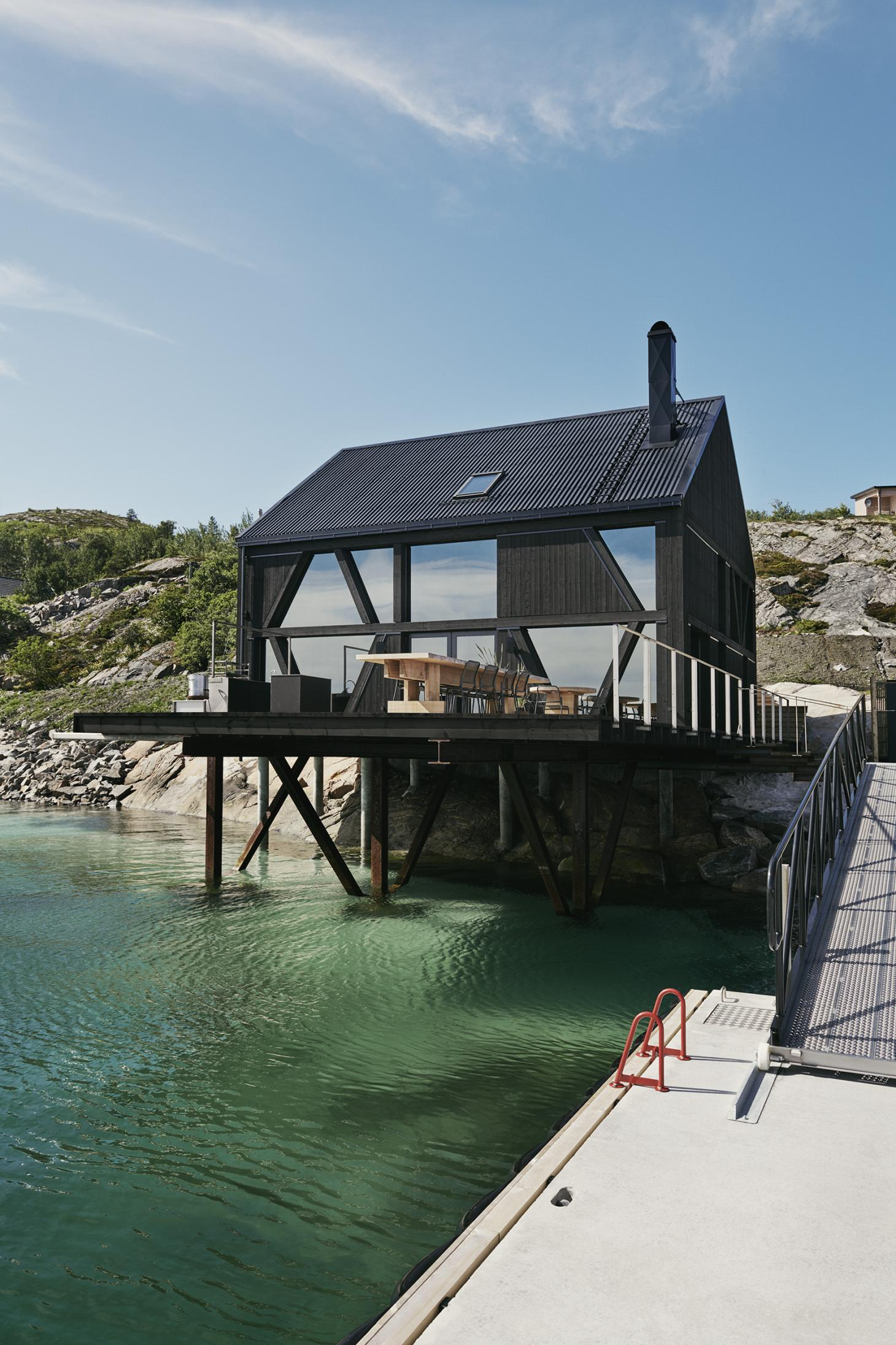 'Naustet' traditioanal Norwegian boat house