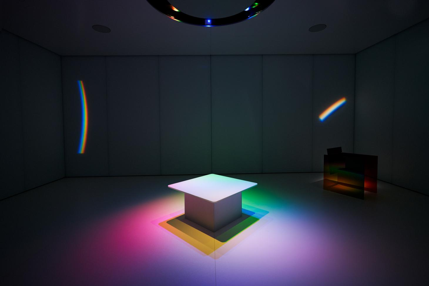 Inside installation Where The Rainbow Ends by Germans Ermics and Instagram