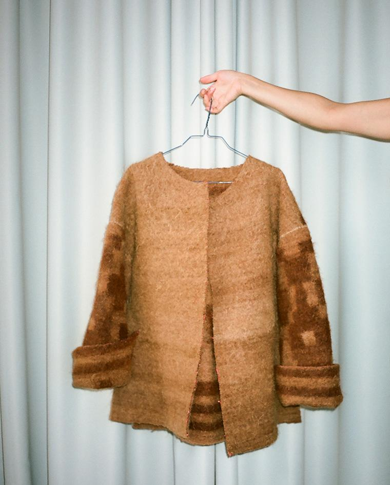 Unsung Weavers camel jacket