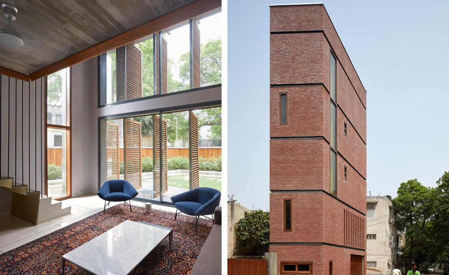 Brick House, New Delhi, India, by RKDS
