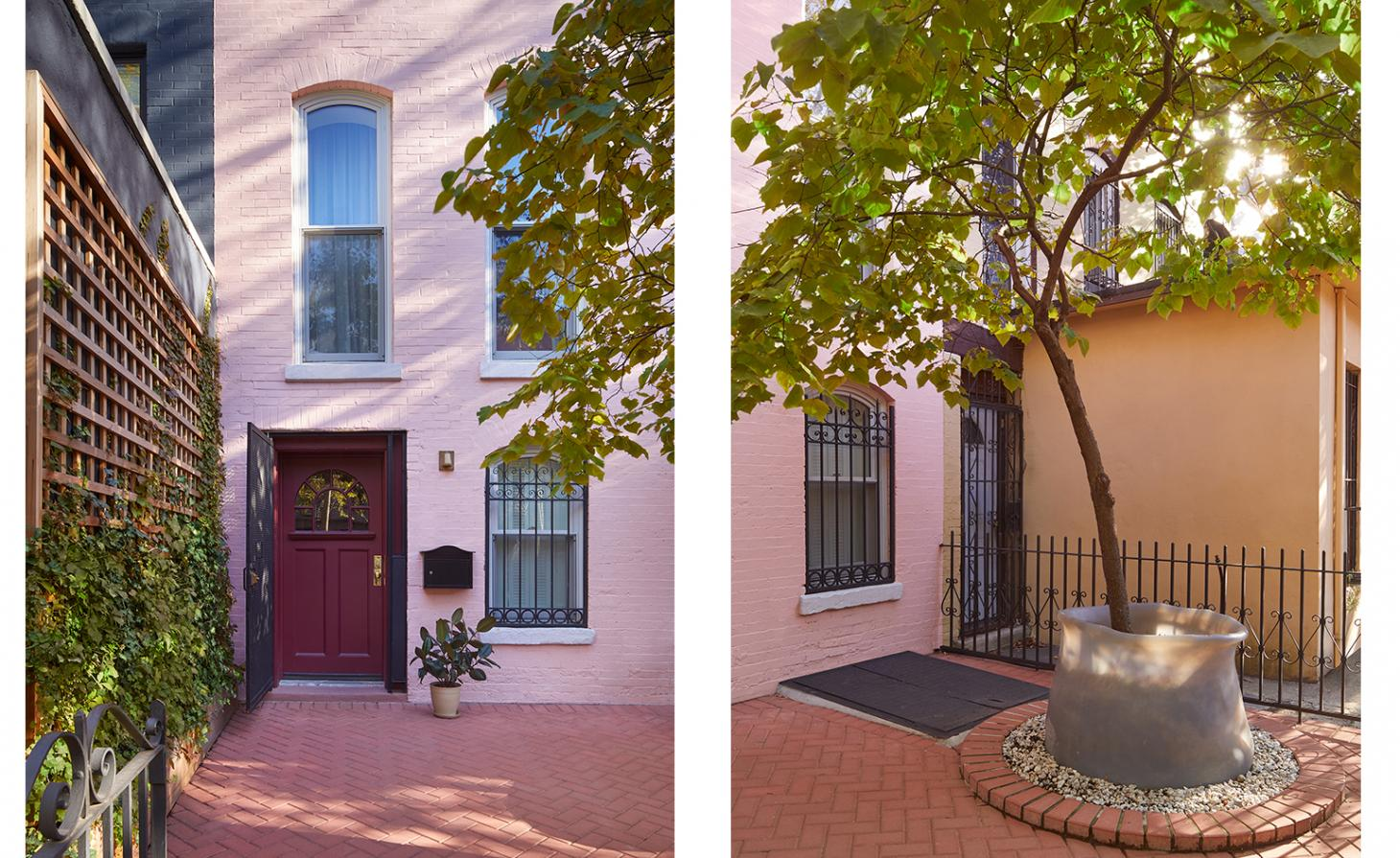 Boerum Hill Townhouse's pink front facade