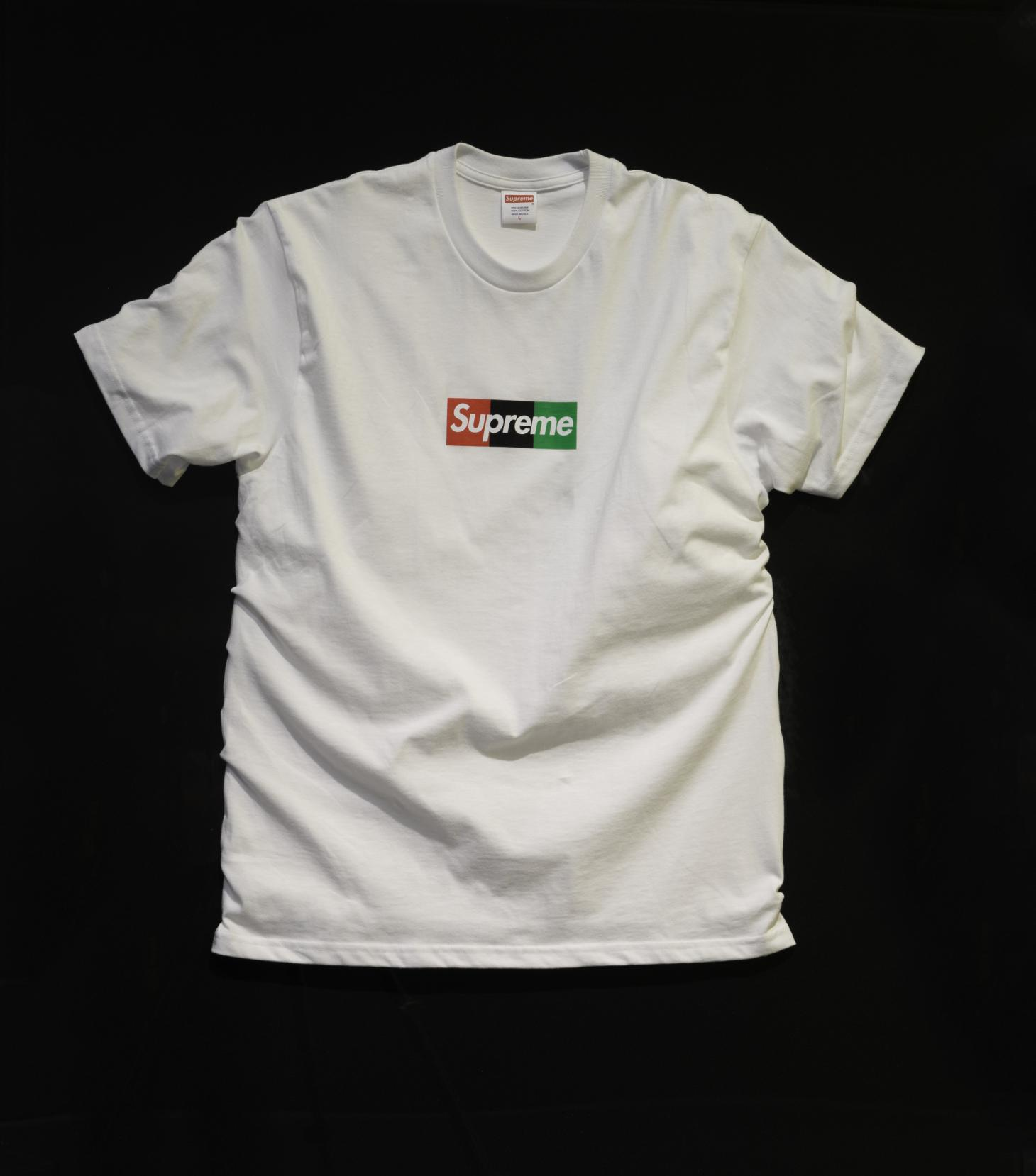 Spreme t-shirt designed by Virgil Abloh