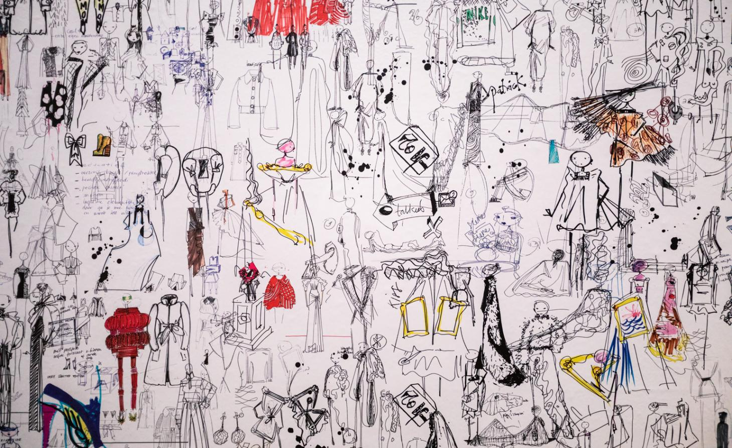 Original sketches from the Viktor&Rolf archives