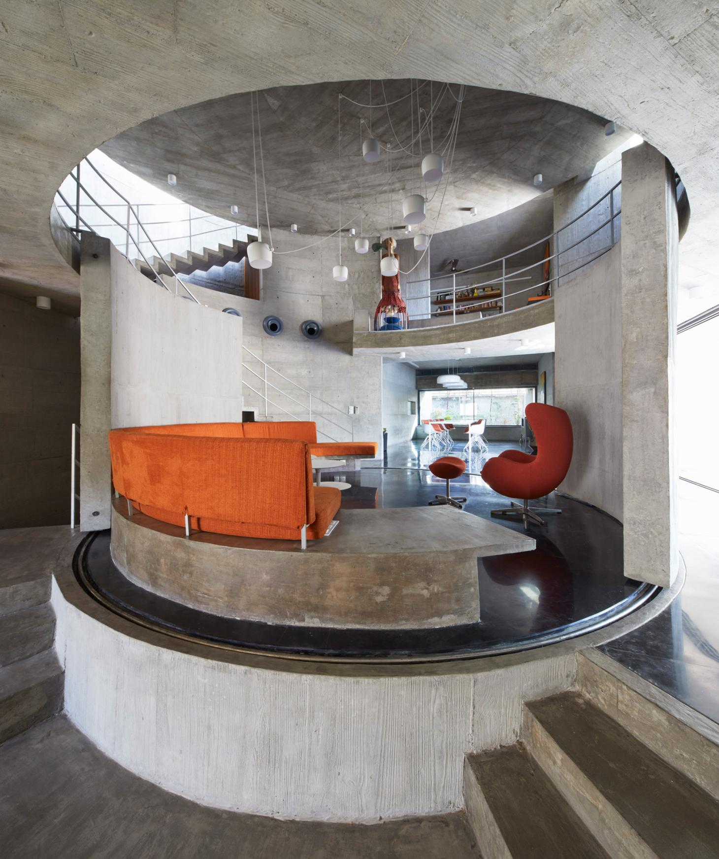 The transformable living room of Surat House by Matharoo Associates in India