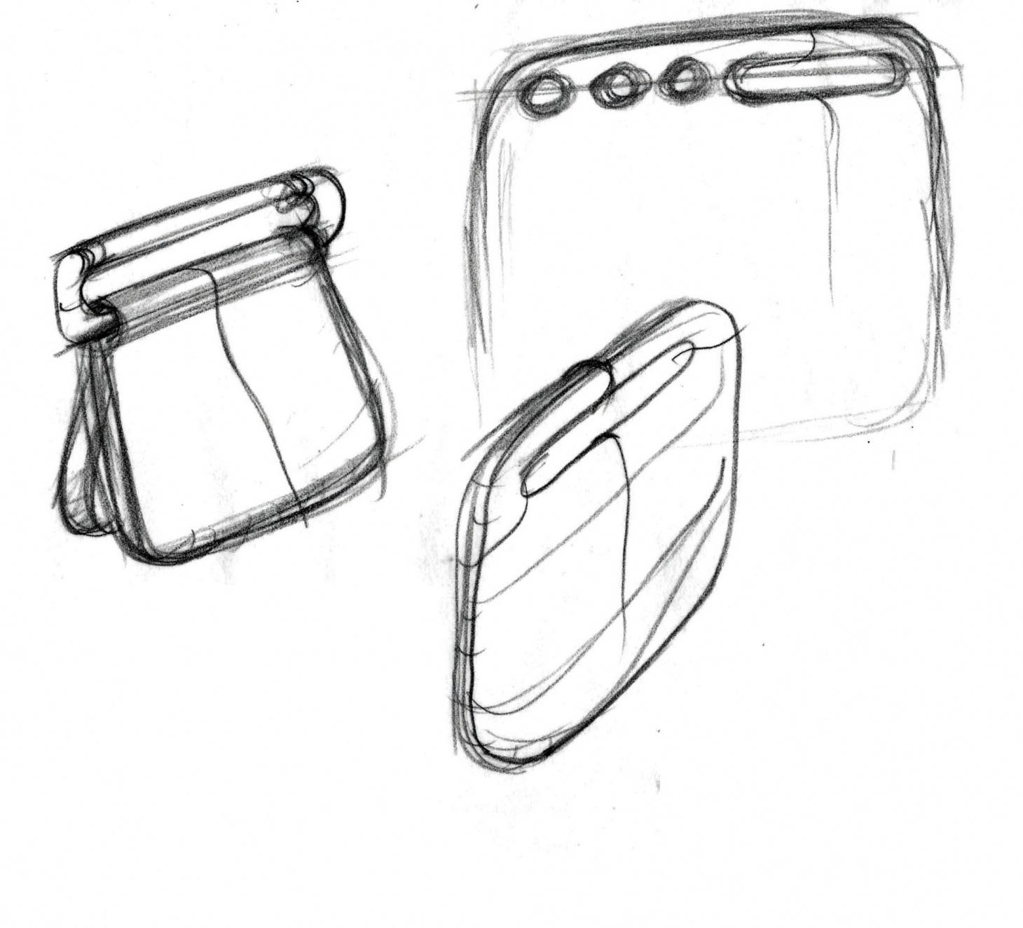A sketch by Yves Behar of the One Laptop Per Child project