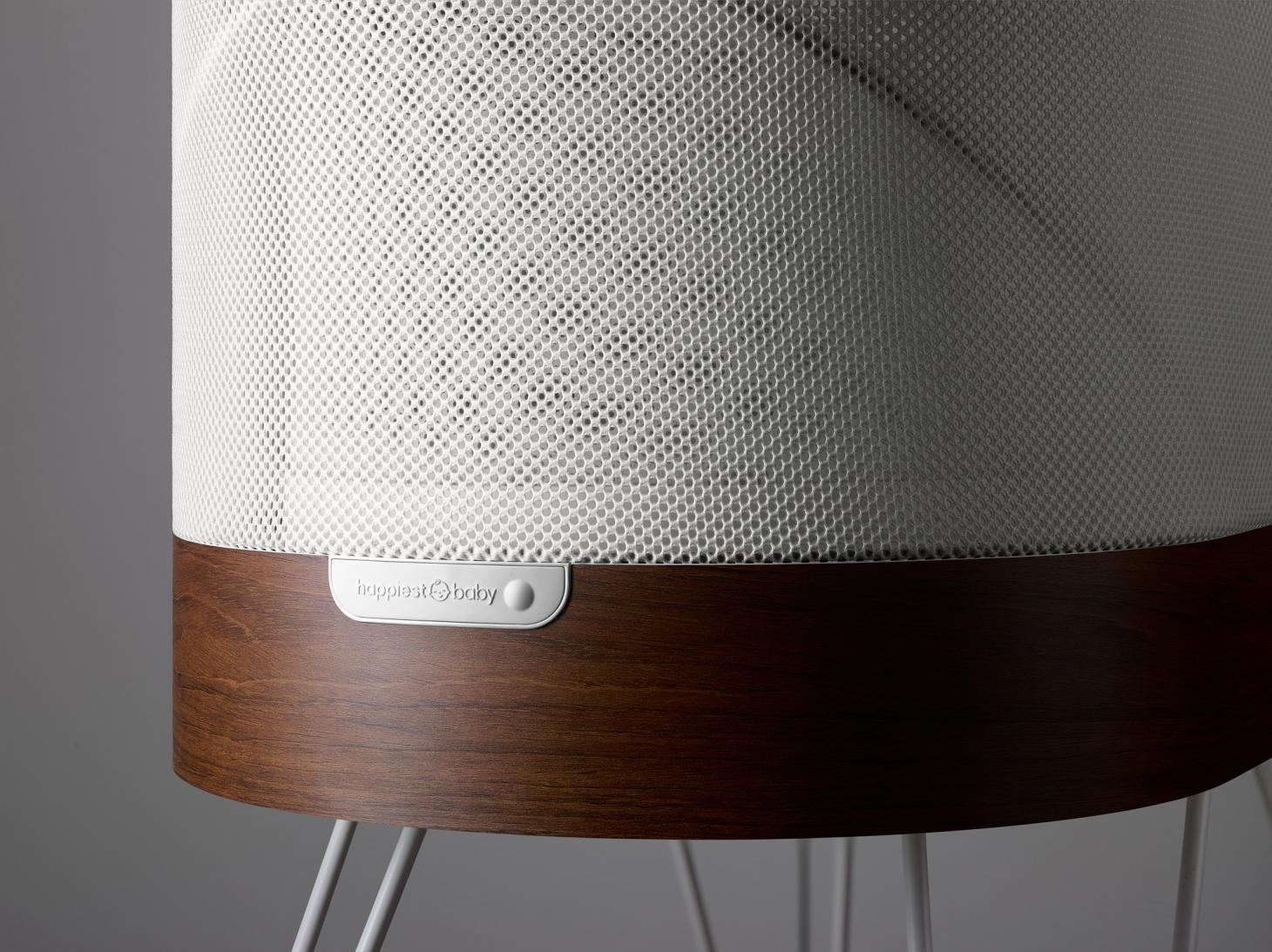 The 'Snoo' responsive baby cot, created in collaboration by Yves Behar and paediatrician Dr Harvey Karp