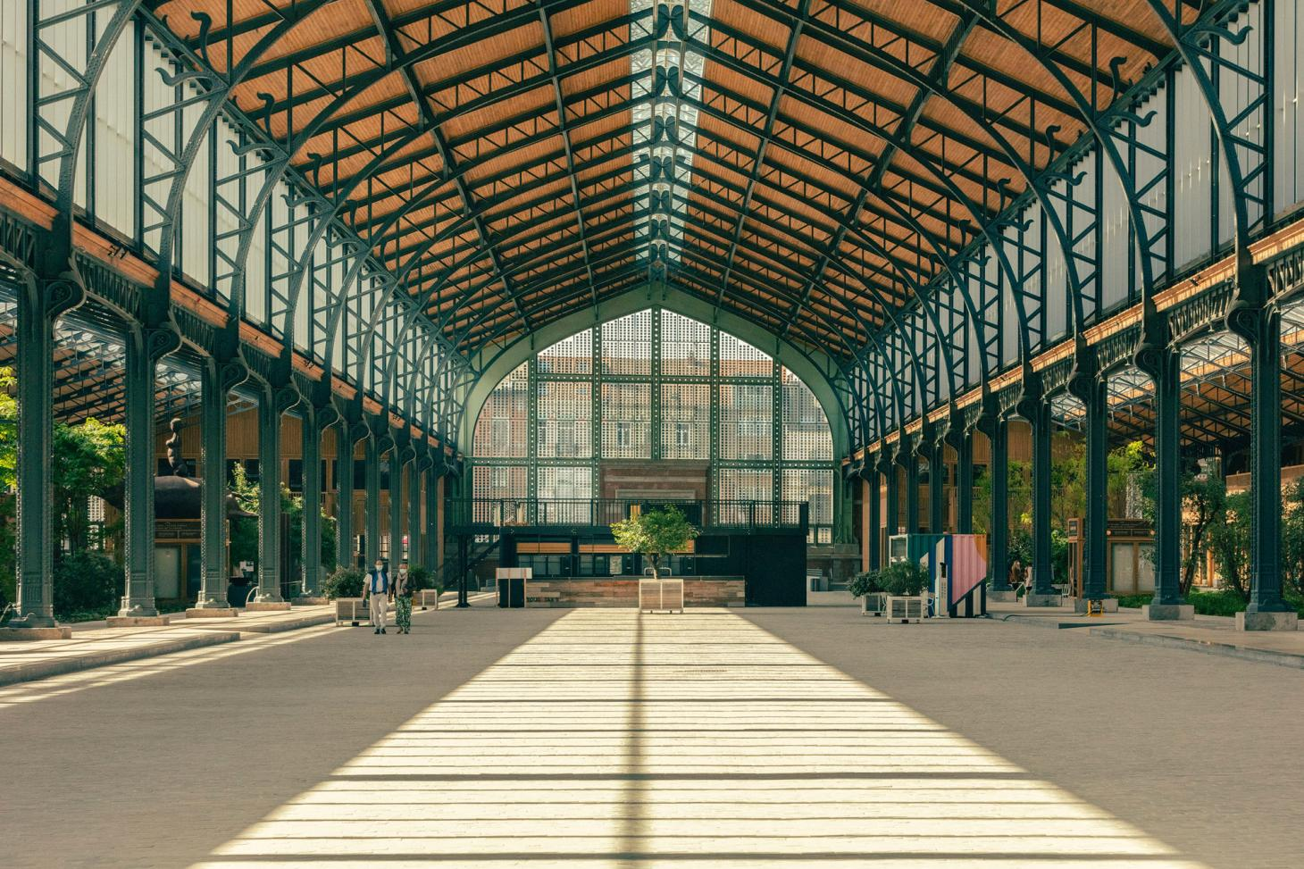 renovated industrial architecture at gare maritime in Brussels