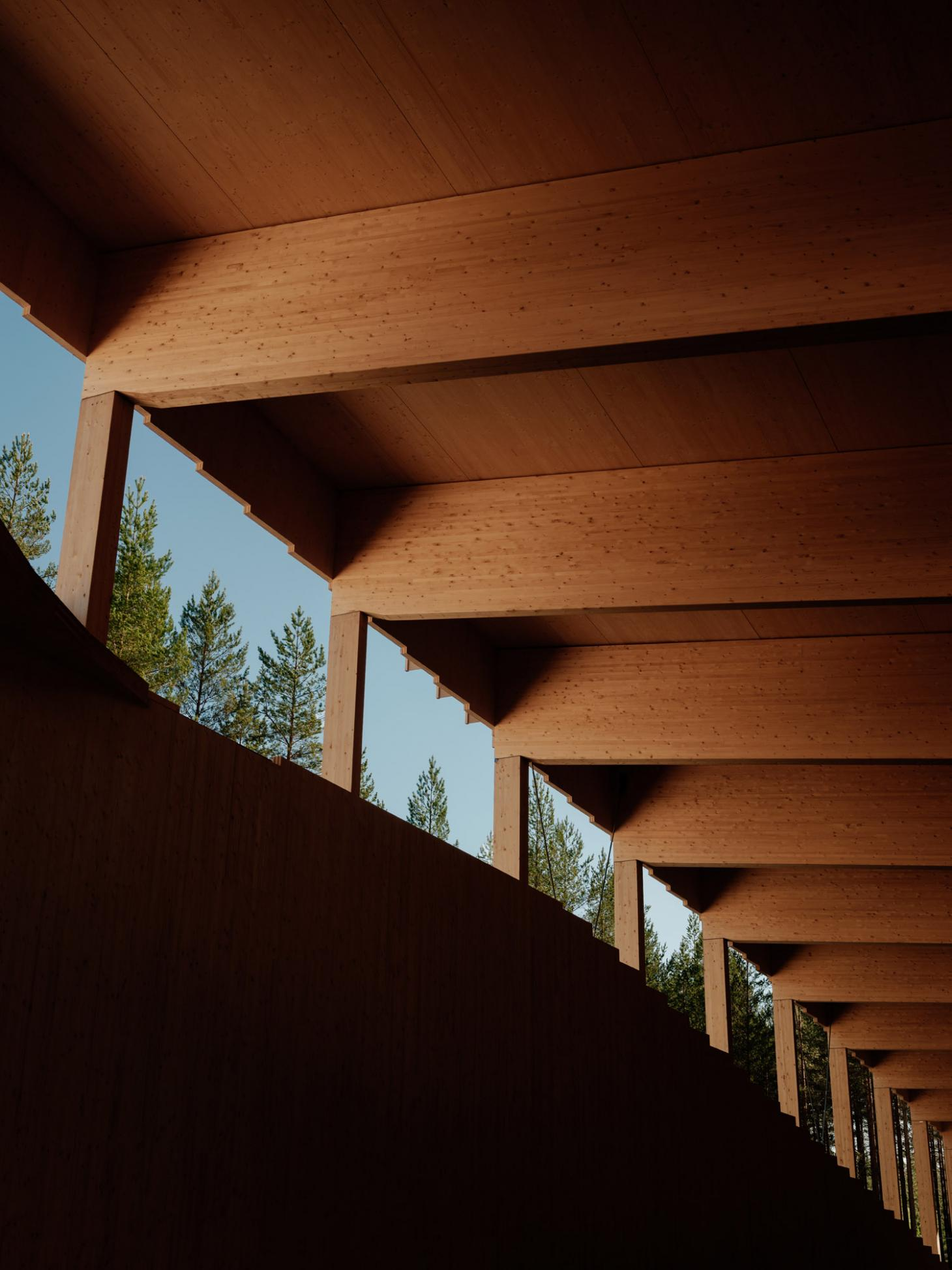 detail of the timber construction at The Plus