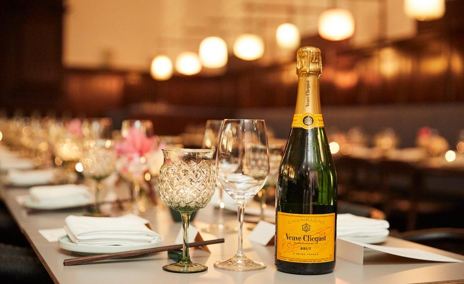Veuve Clicquot champagne at the Design Awards dinner