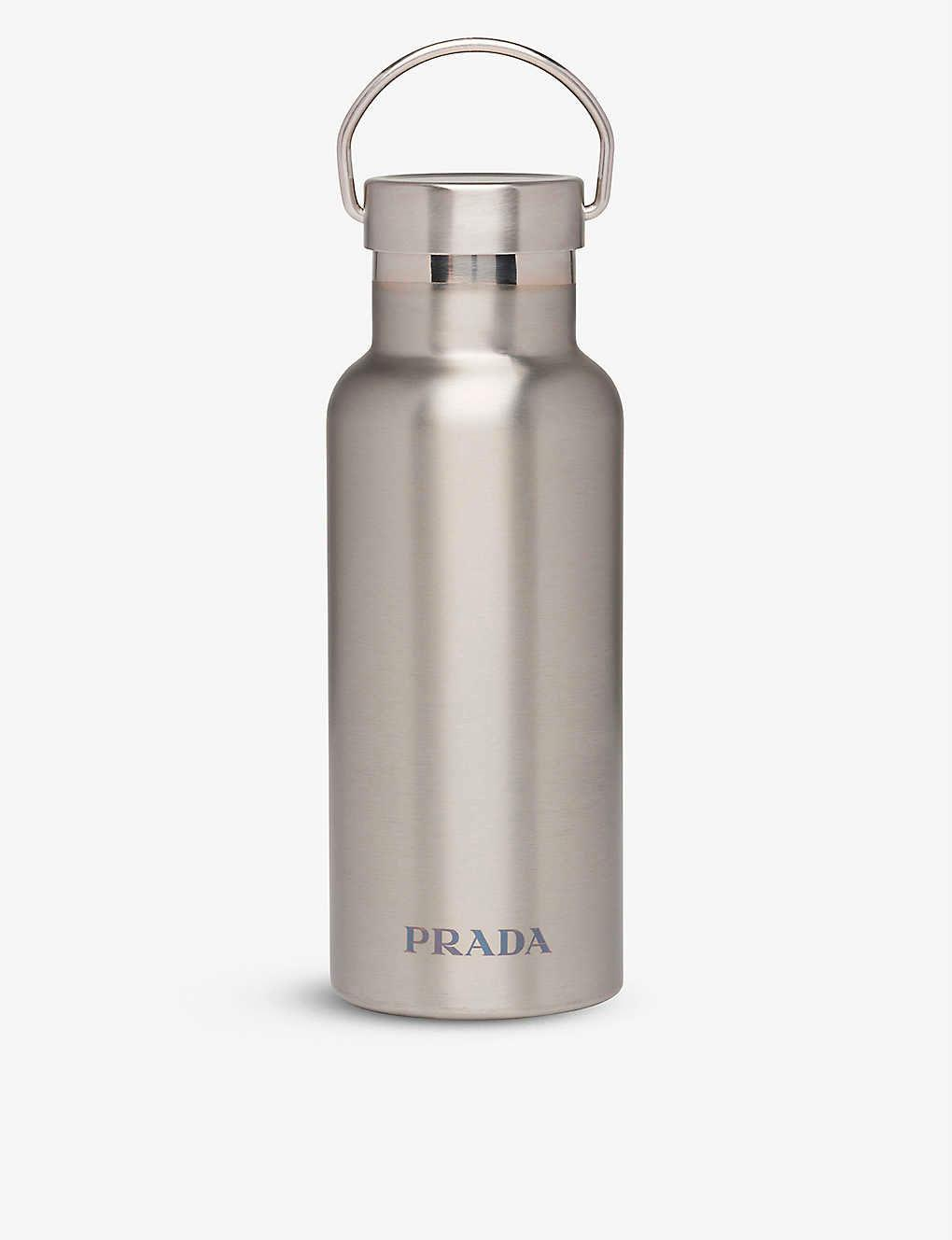 prada stainless steal water bottle for hot and cold drinks
